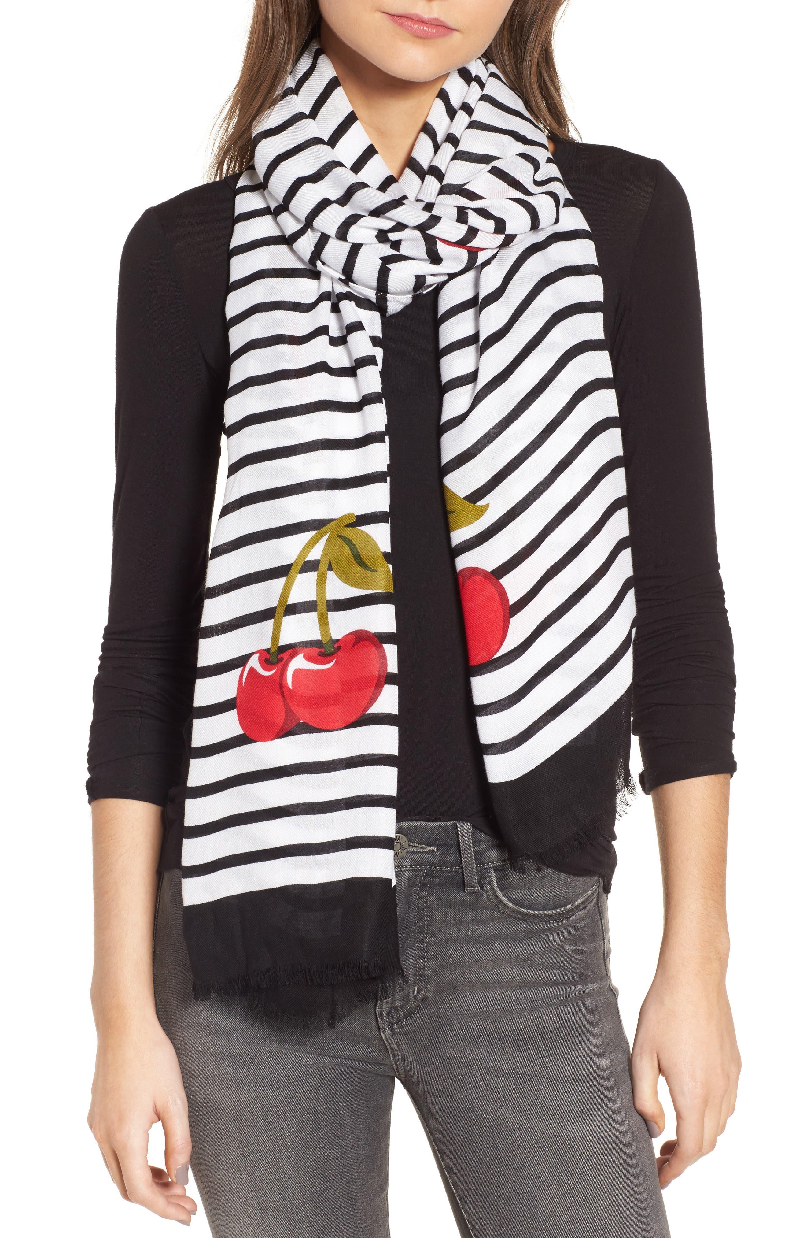 ma cherie oblong scarf,                         Main,                         color, Black
