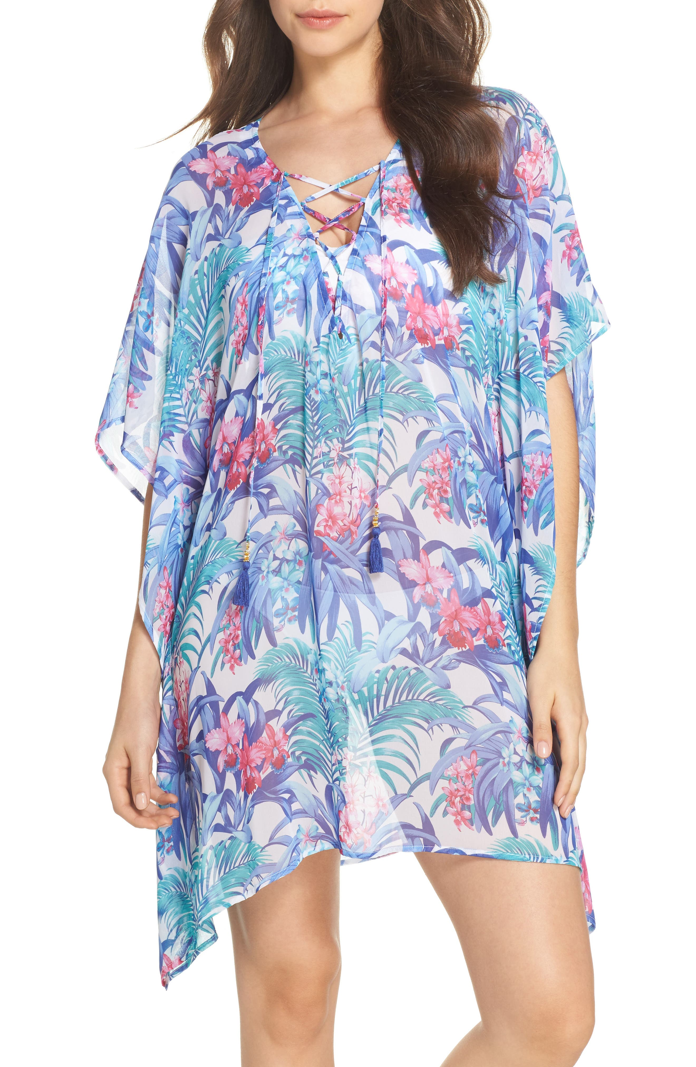 Alternate Image 1 Selected - Tommy Bahama Majorelle Cover-Up Tunic