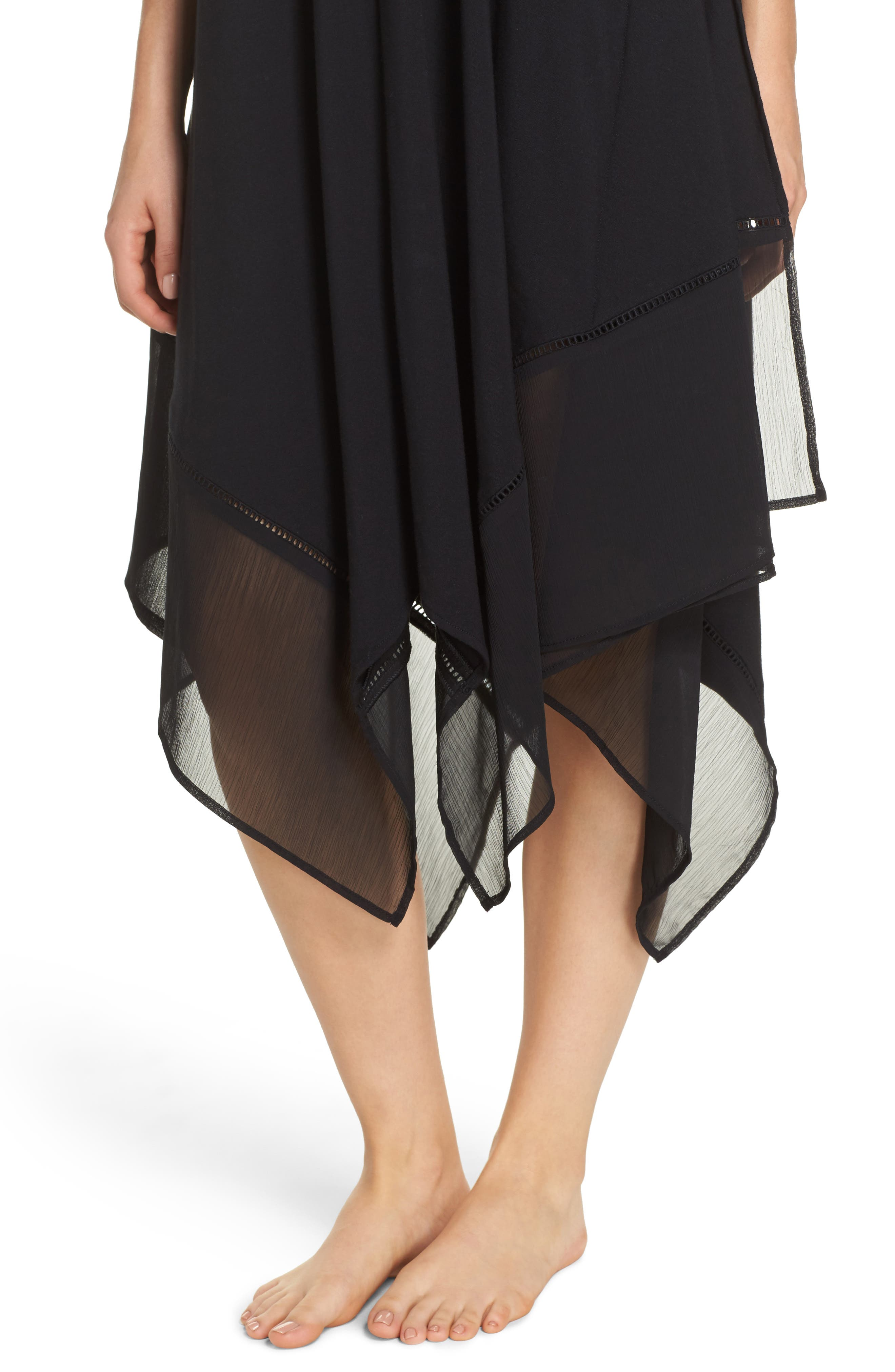 Cover-Up Scarf Dress,                             Alternate thumbnail 4, color,                             Black