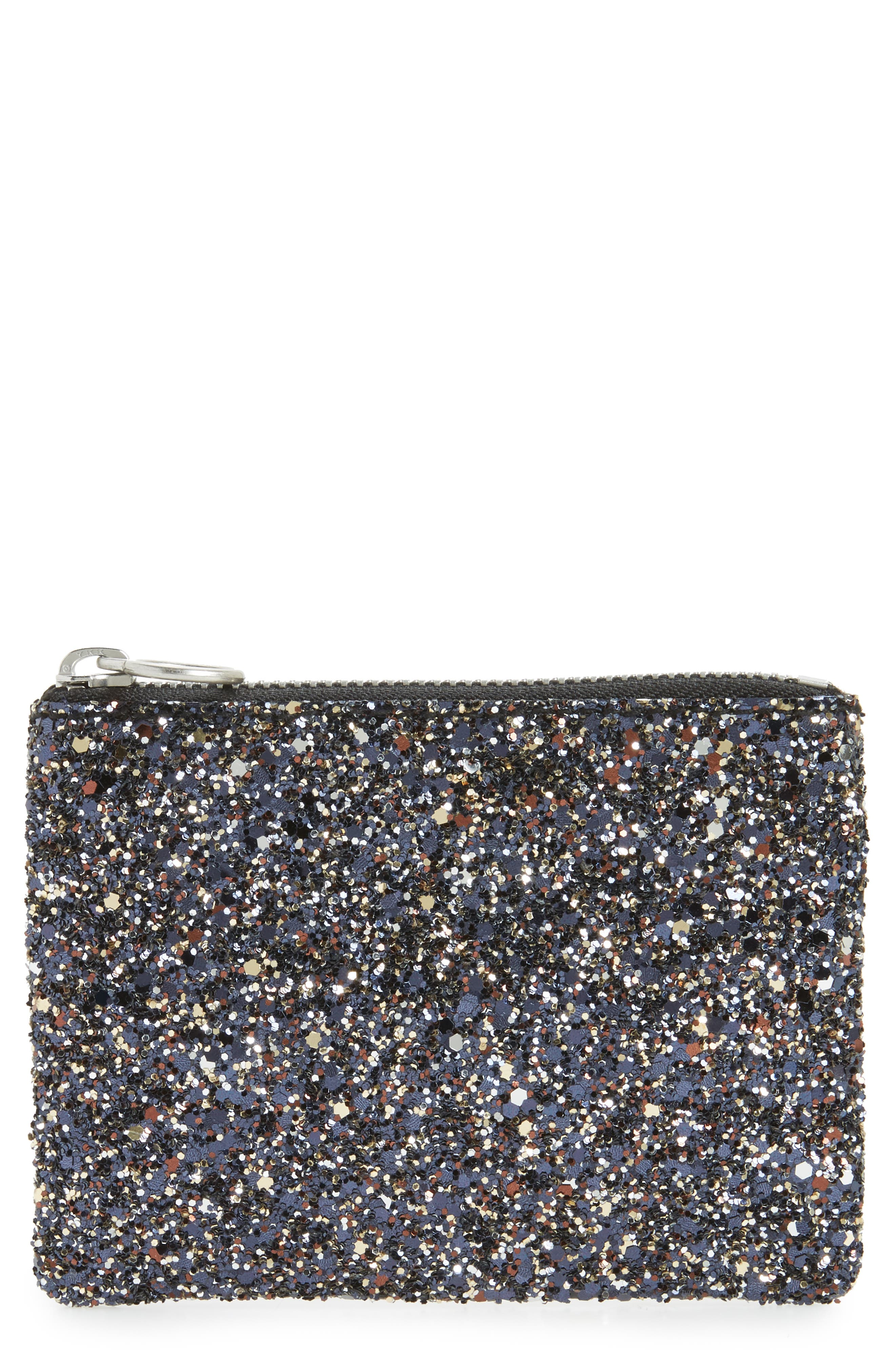 The Leather Zip Wallet,                         Main,                         color, Midnight Multi