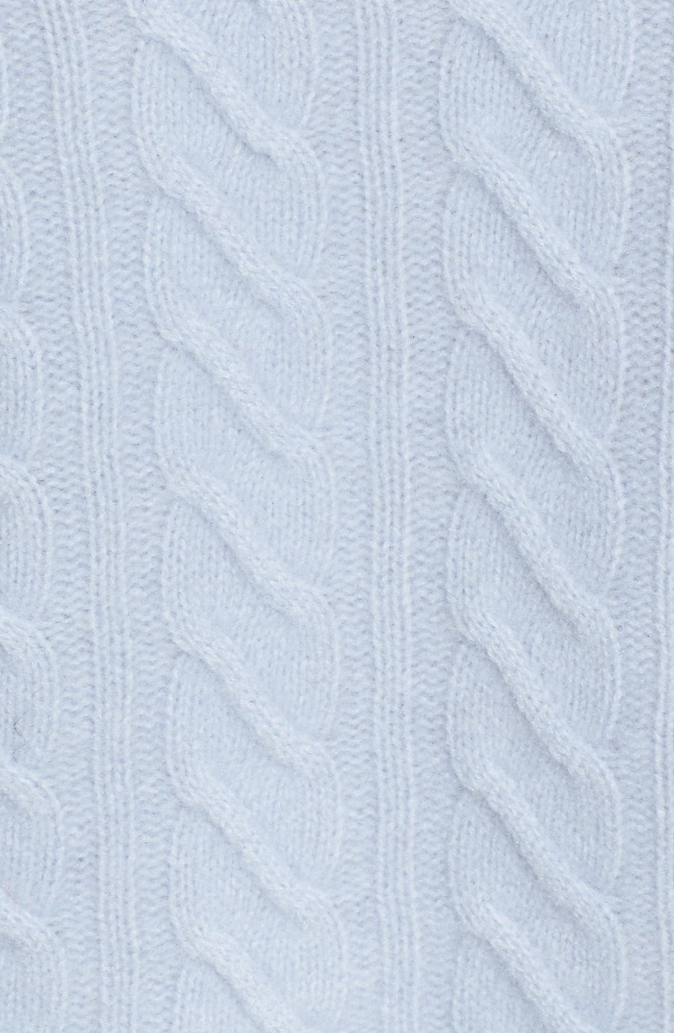 Alternate Image 5  - Nordstrom Signature Cable Cashmere Sweater