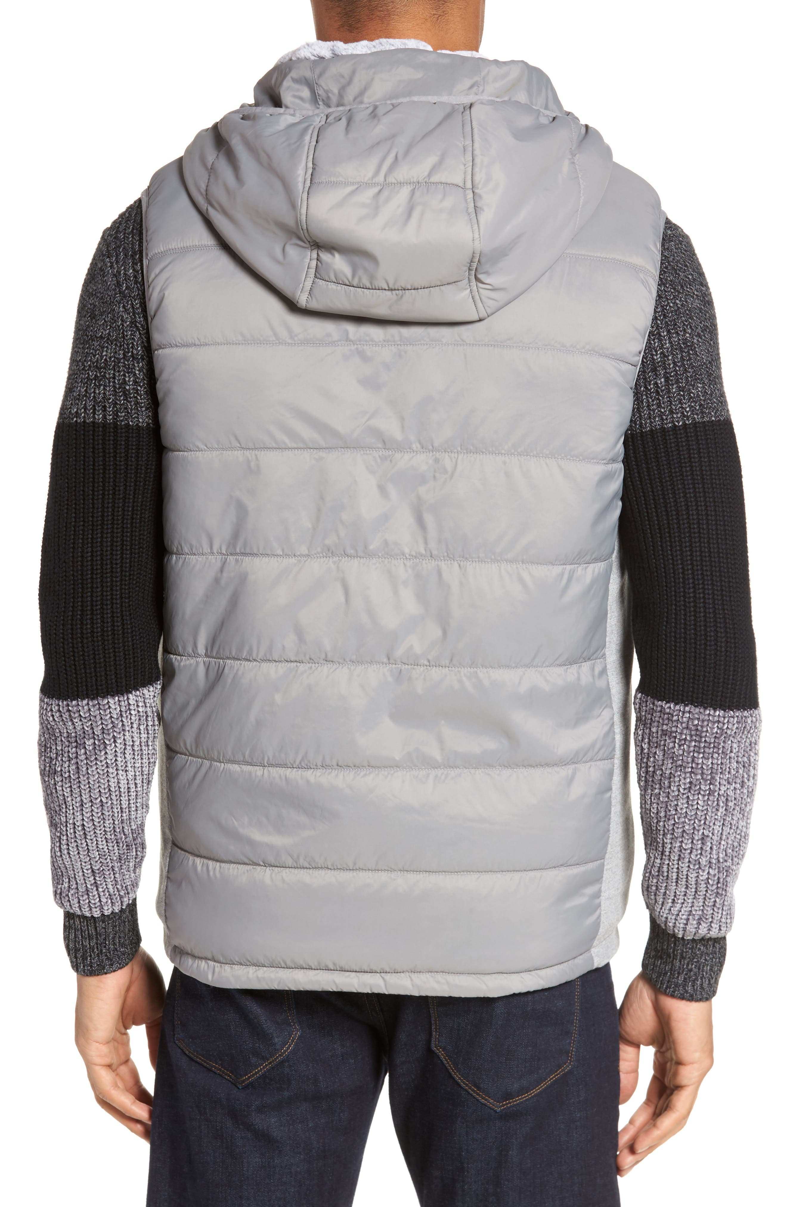 Hooded Vest,                             Alternate thumbnail 2, color,                             Silver