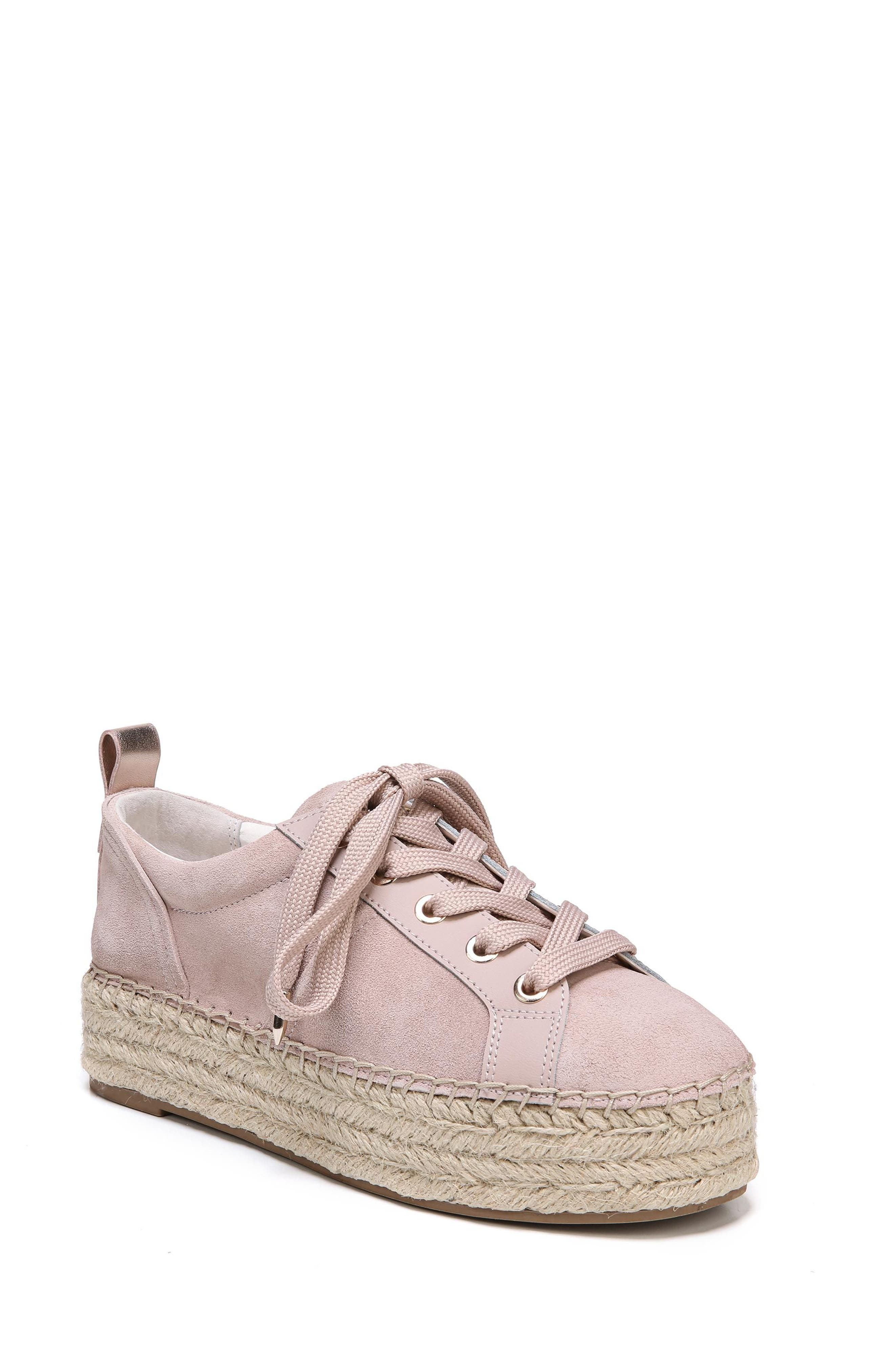 Carleigh Espadrille Sneaker,                         Main,                         color, Blush Leather