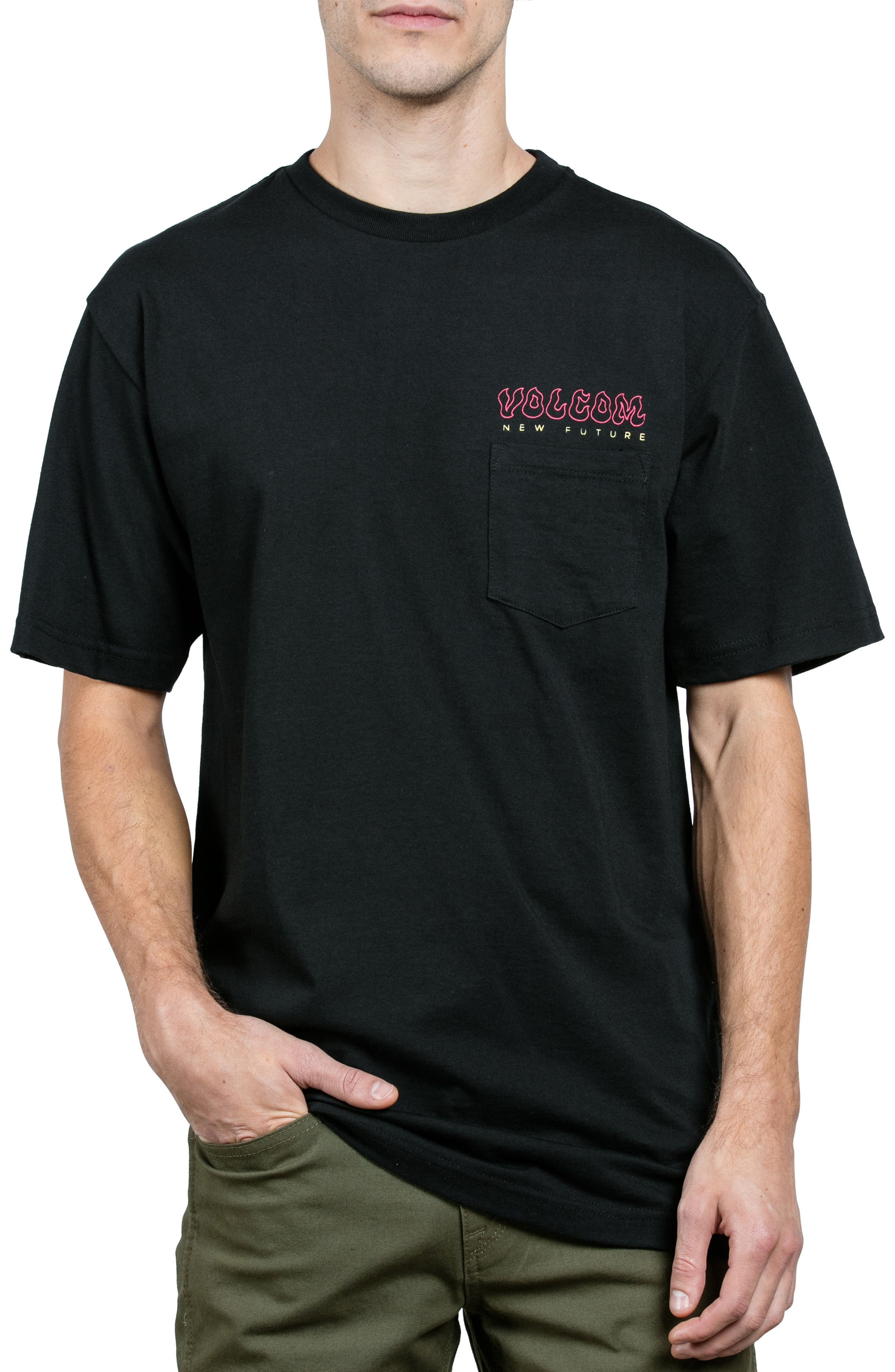 Solar Eyes Pocket T-shirt,                             Main thumbnail 1, color,                             Black