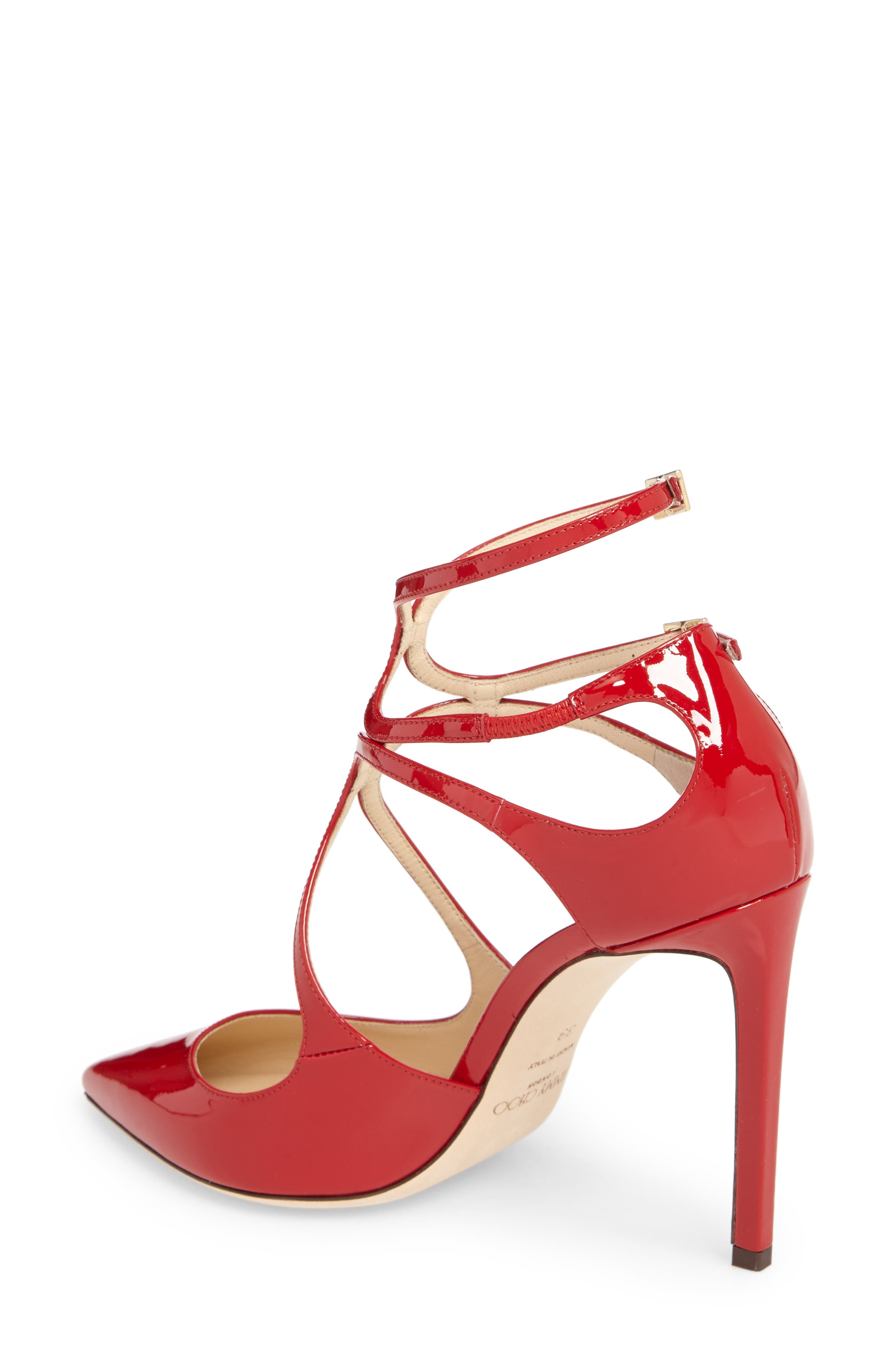 Lancer Strappy Pump,                             Alternate thumbnail 2, color,                             Red Patent