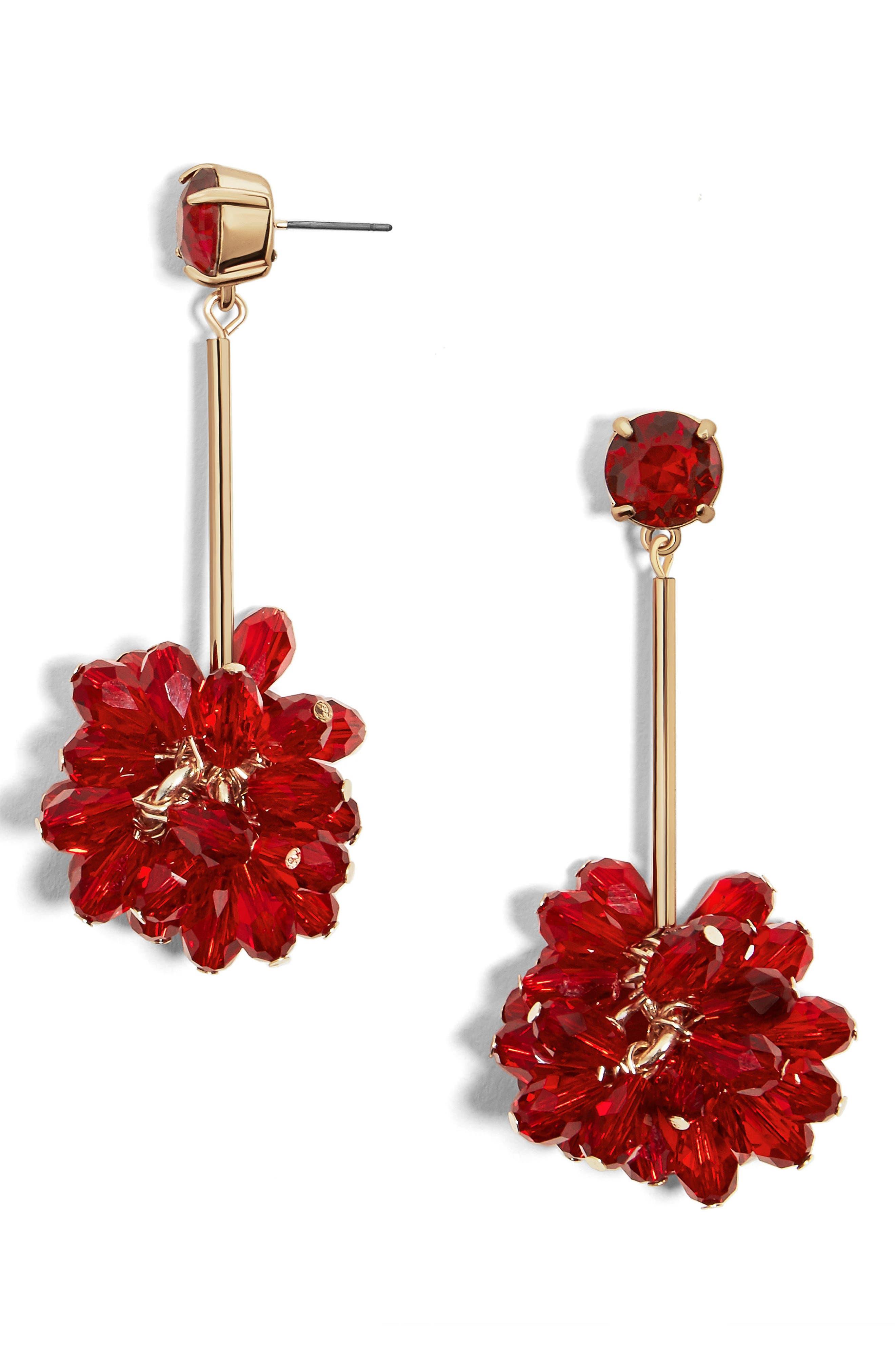 Noel Drop Earrings,                         Main,                         color, Red