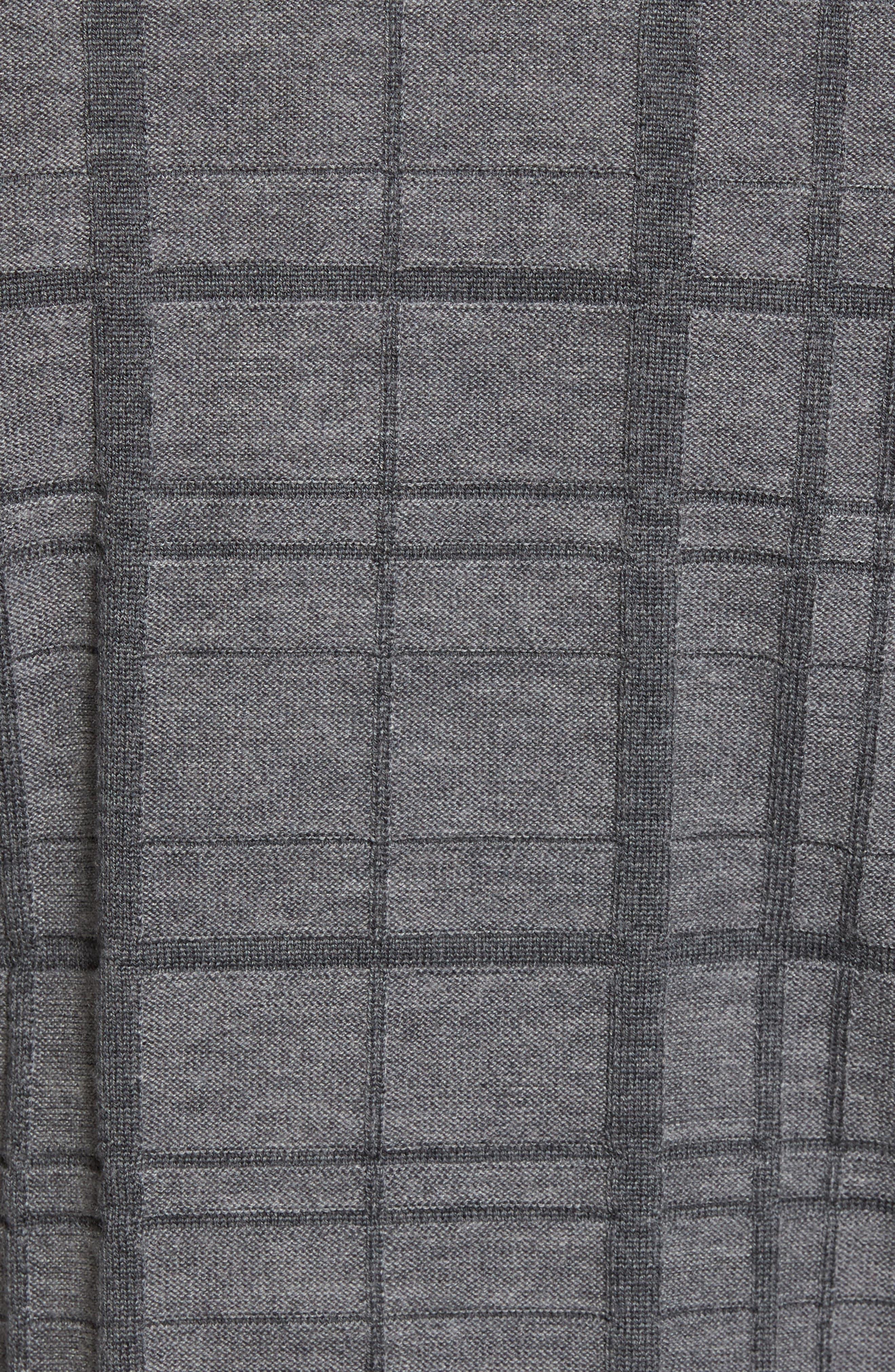 Alternate Image 5  - Bobby Jones Tonal Grid Wool Sweater