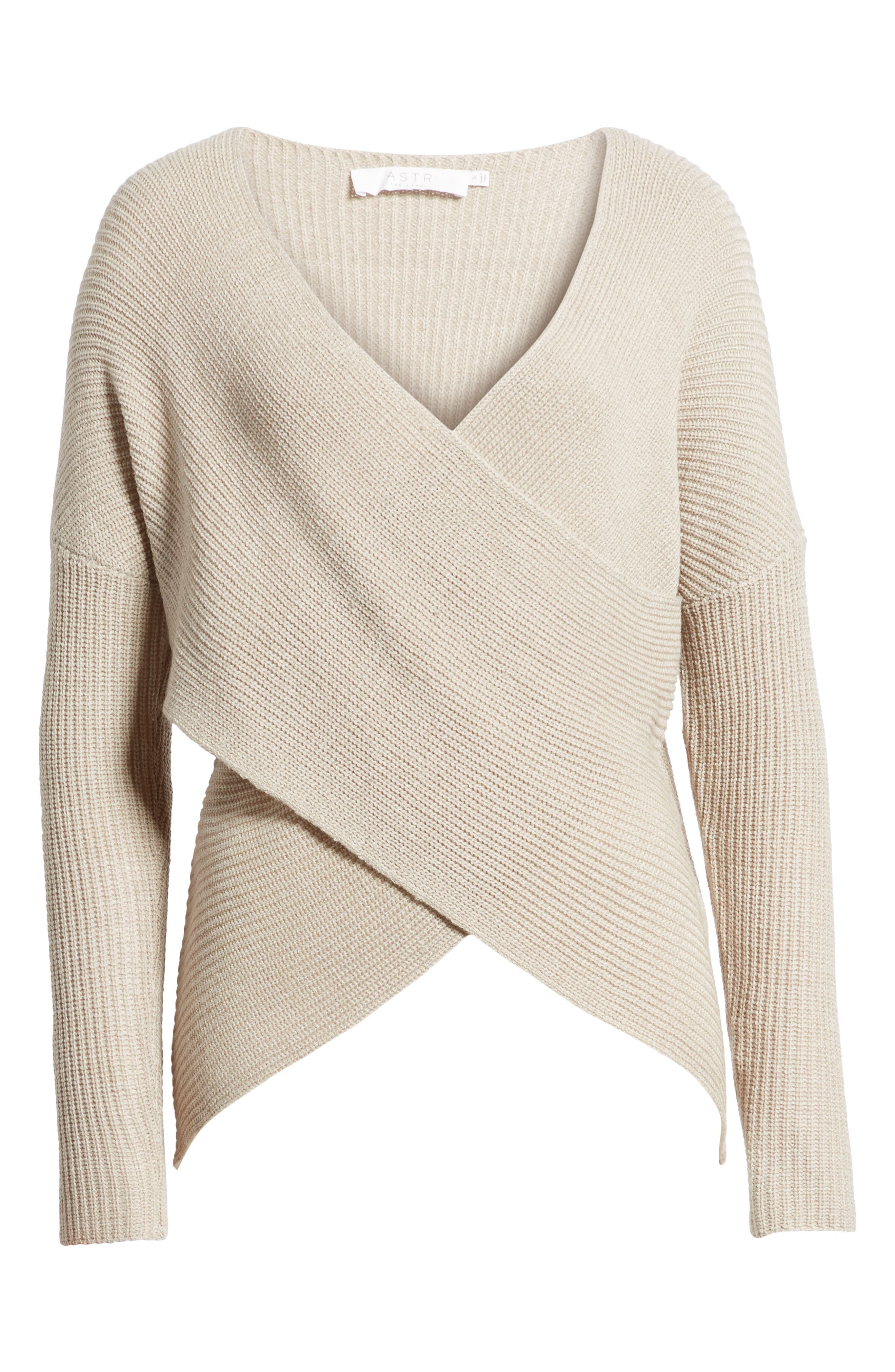 Alternate Image 6  - ASTR the Label Wrap Front Sweater