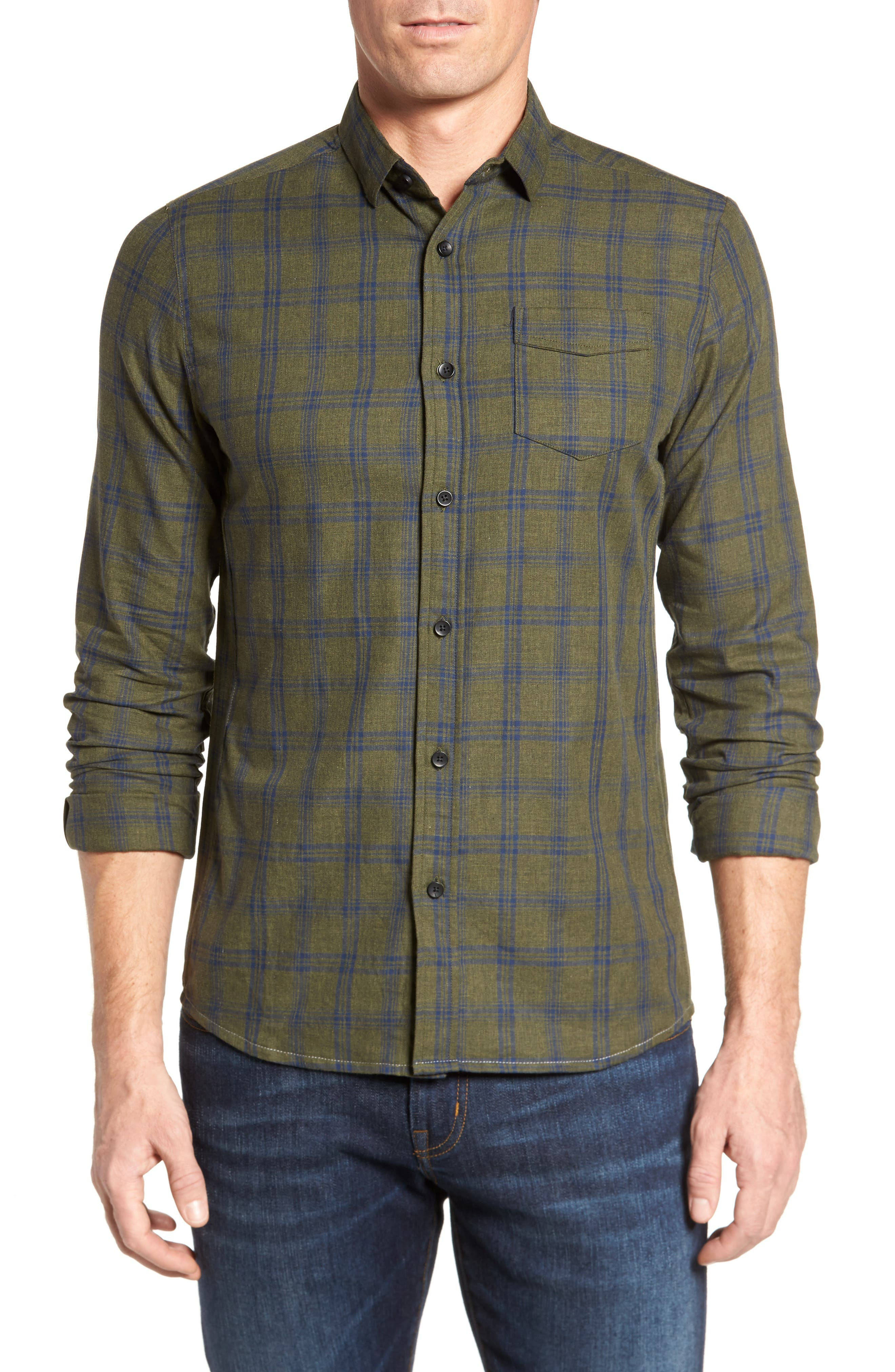 Alternate Image 1 Selected - Descendant of Thieves Vintage Army Plaid Sport Shirt