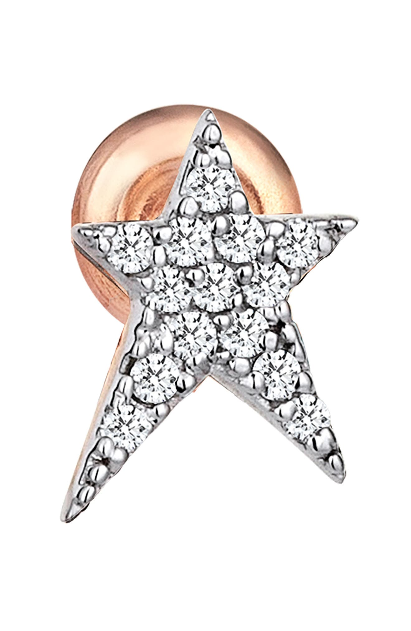 Diamond Star Earring,                         Main,                         color, Rose Gold