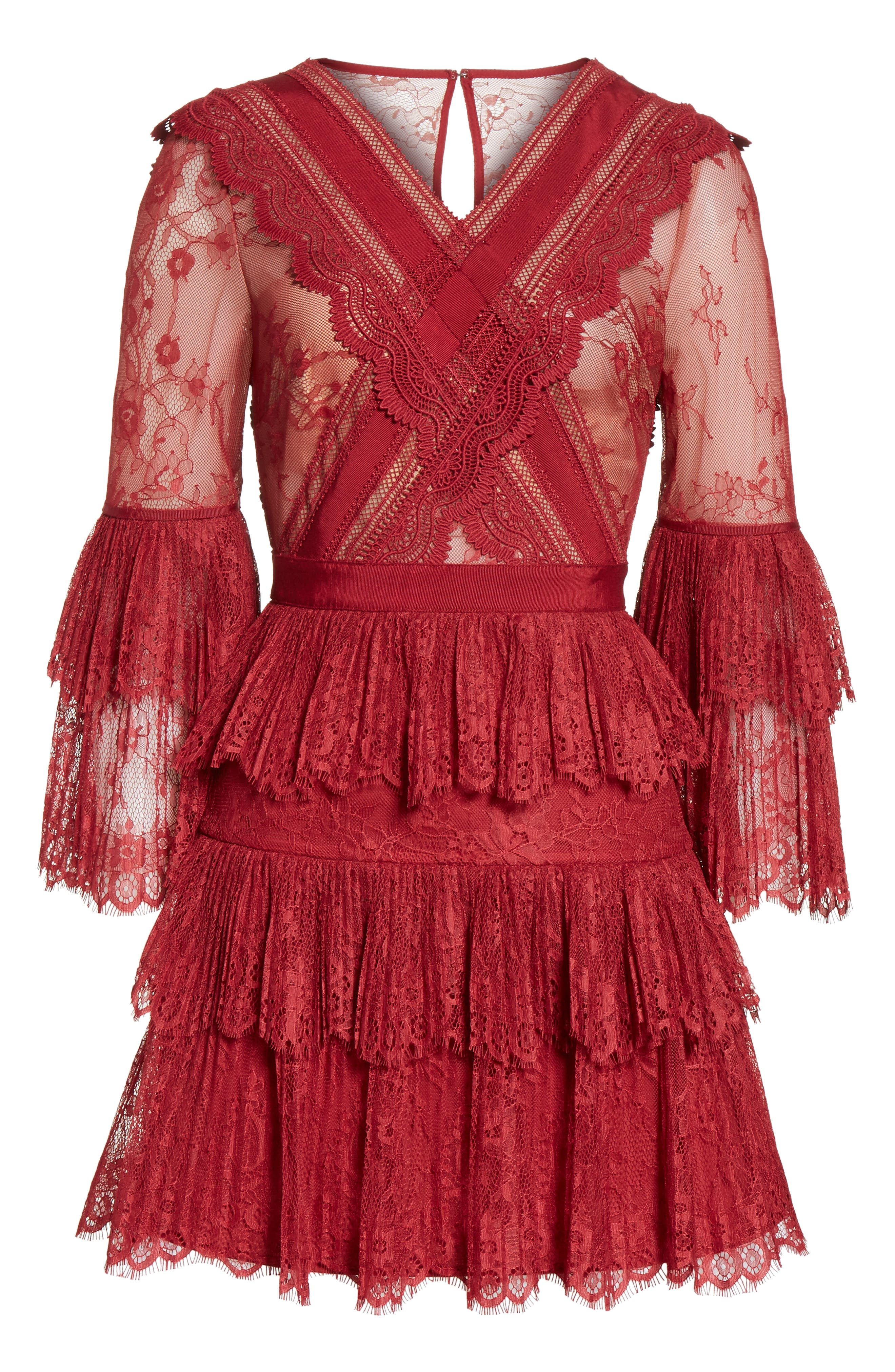 Alternate Image 6  - Self-Portrait Pleated Lace Dress