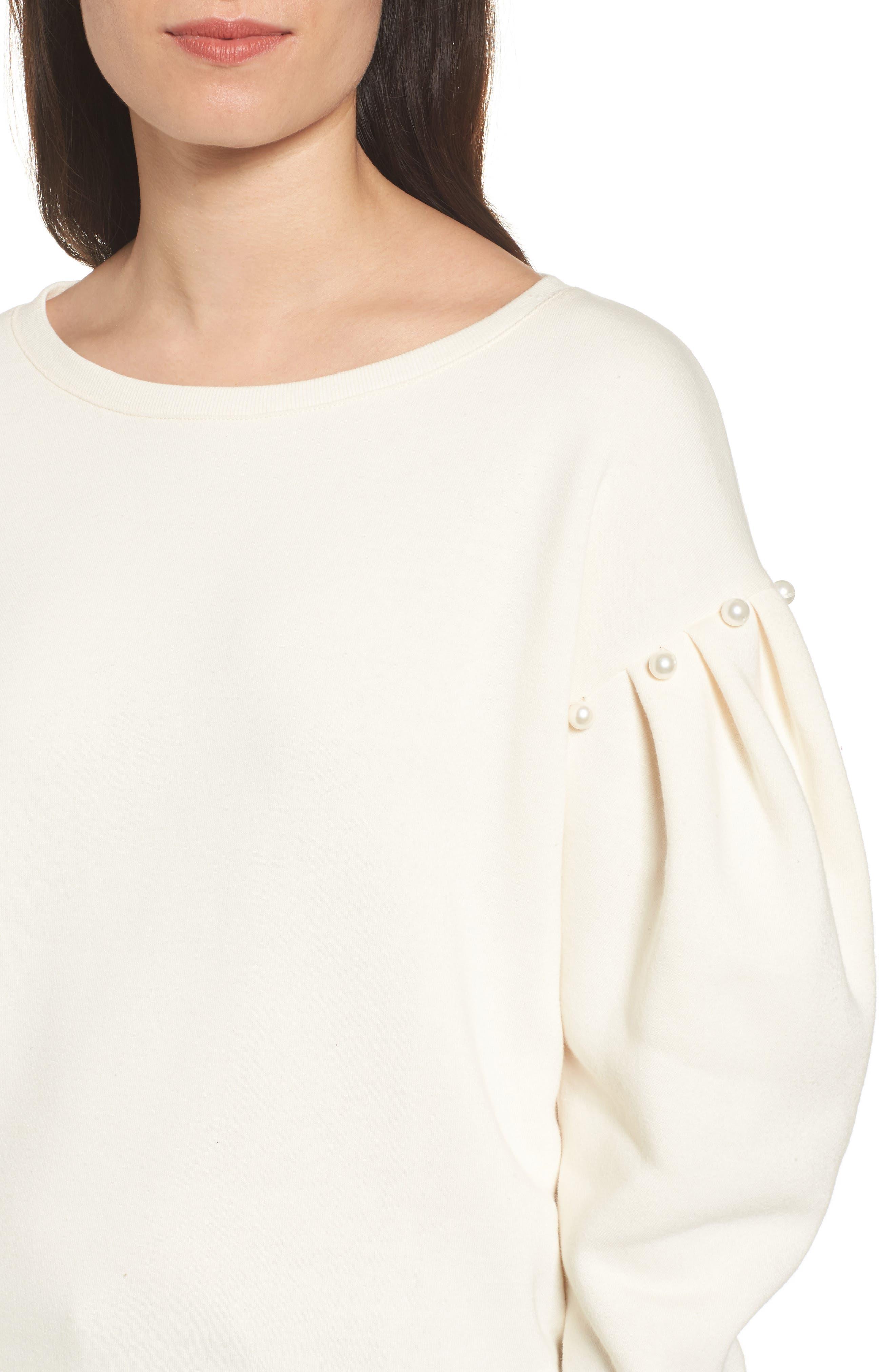 Ellison Sweatshirt,                             Alternate thumbnail 4, color,                             Off White