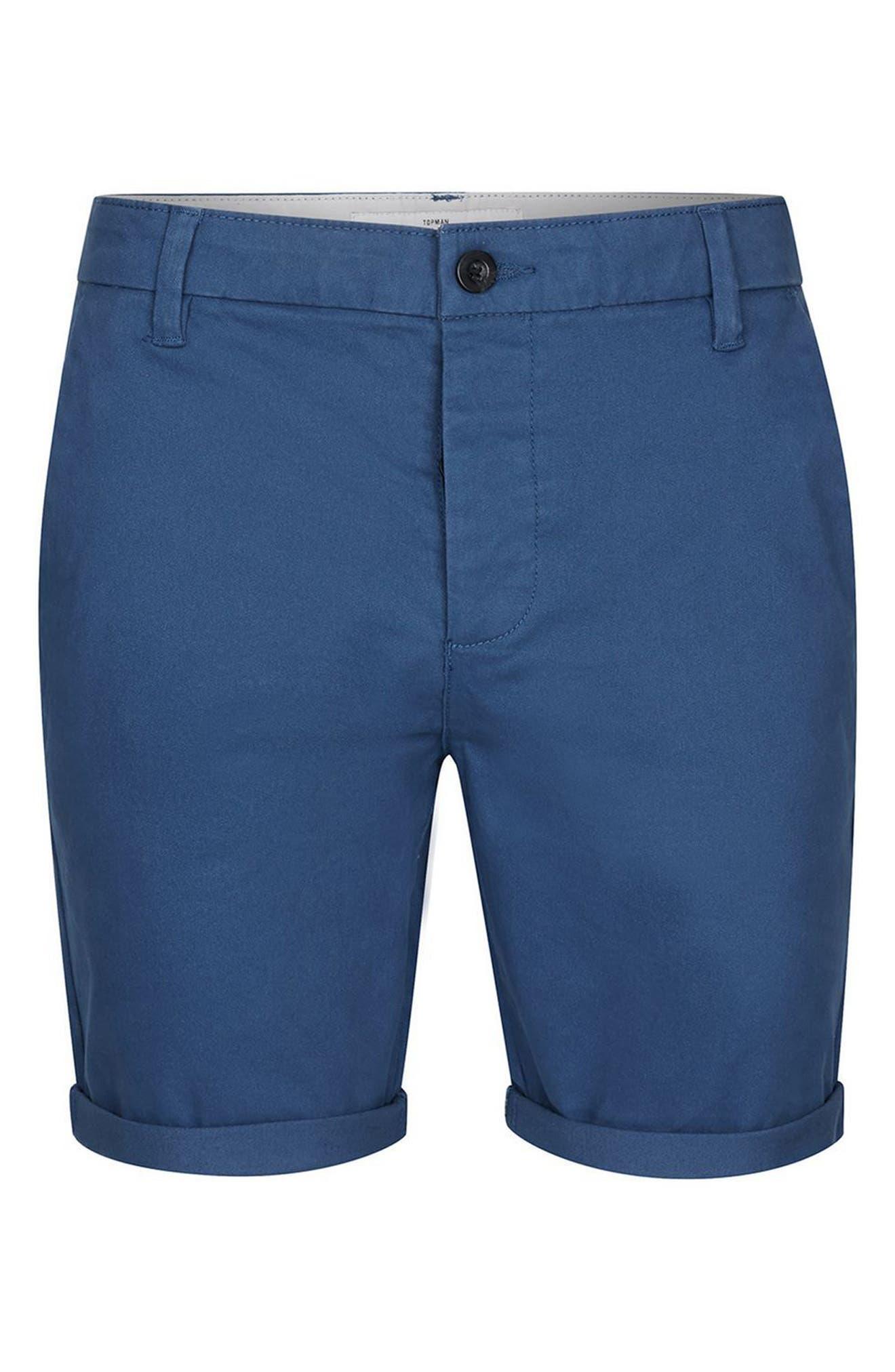 Alternate Image 4  - Topman Stretch Skinny Fit Chino Shorts