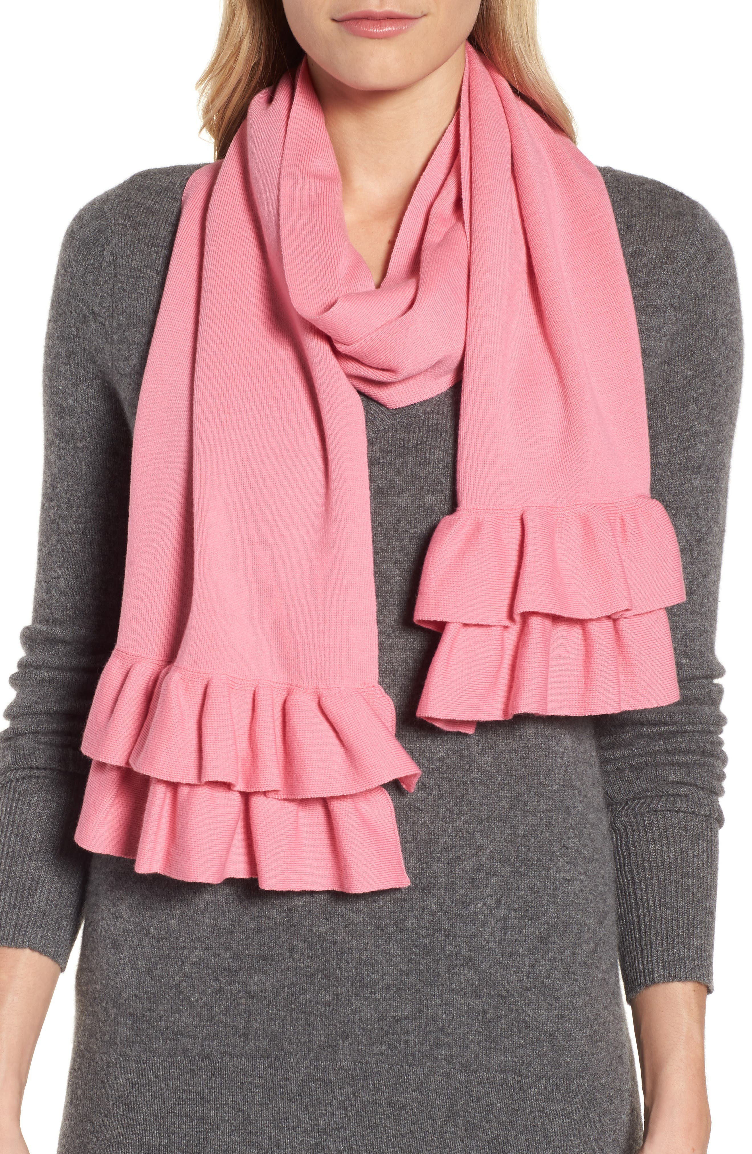 Alternate Image 1 Selected - kate spade new york ruffle muffler