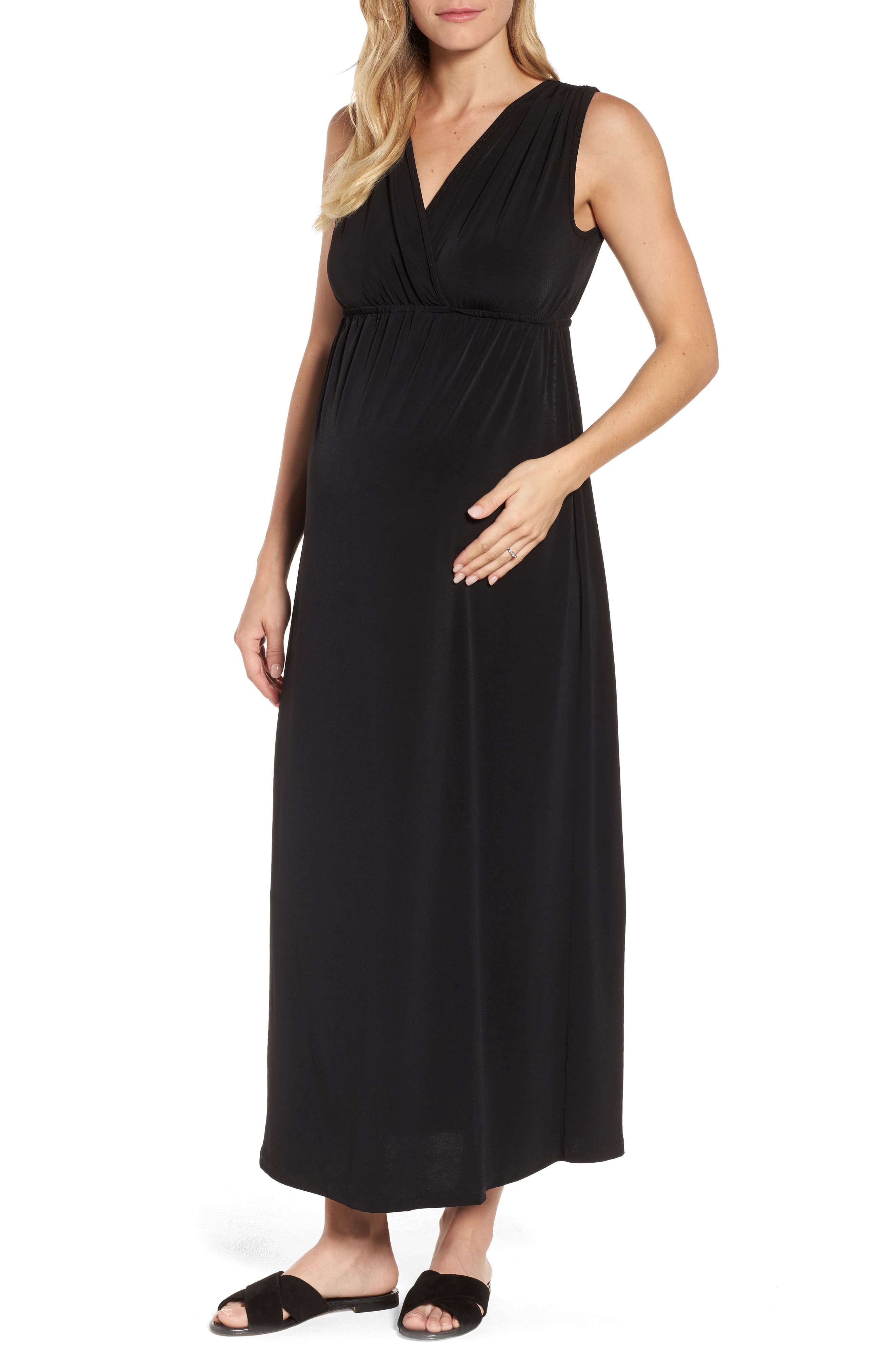 Alternate Image 1 Selected - Maternal America Maxi Dress