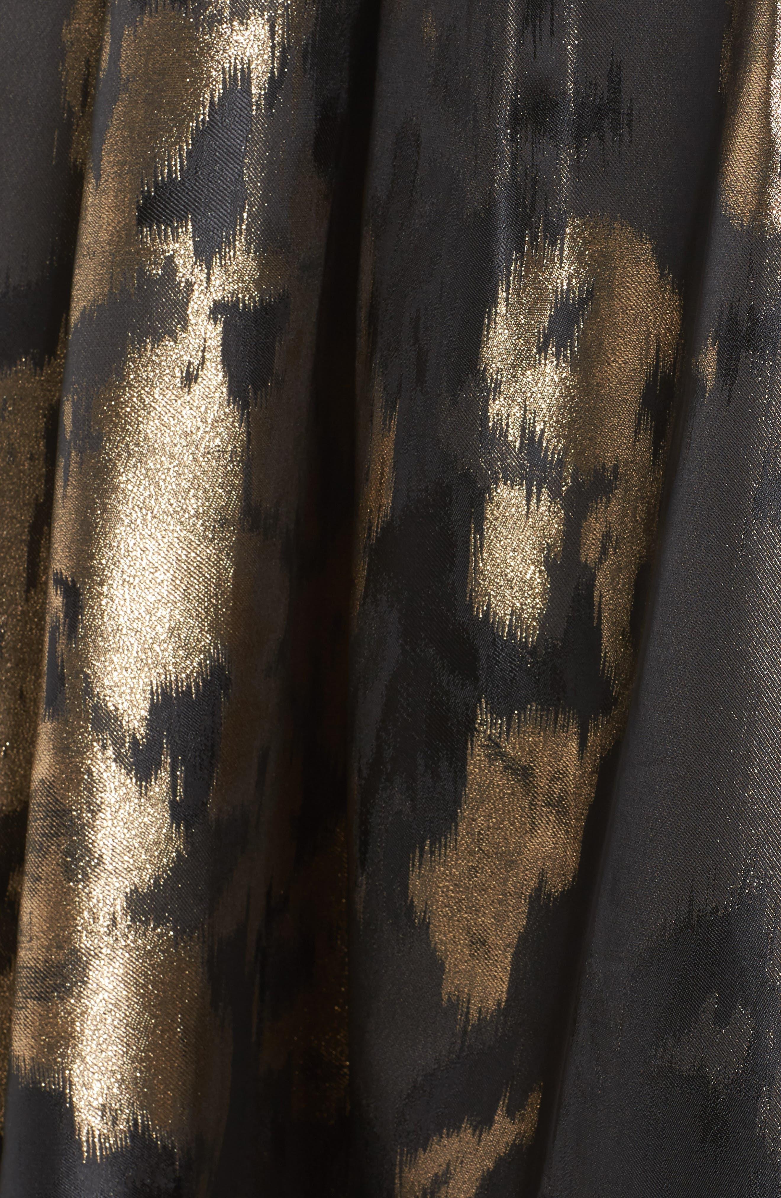 Alternate Image 5  - Eliza J Metallic Jacquard Ball Skirt