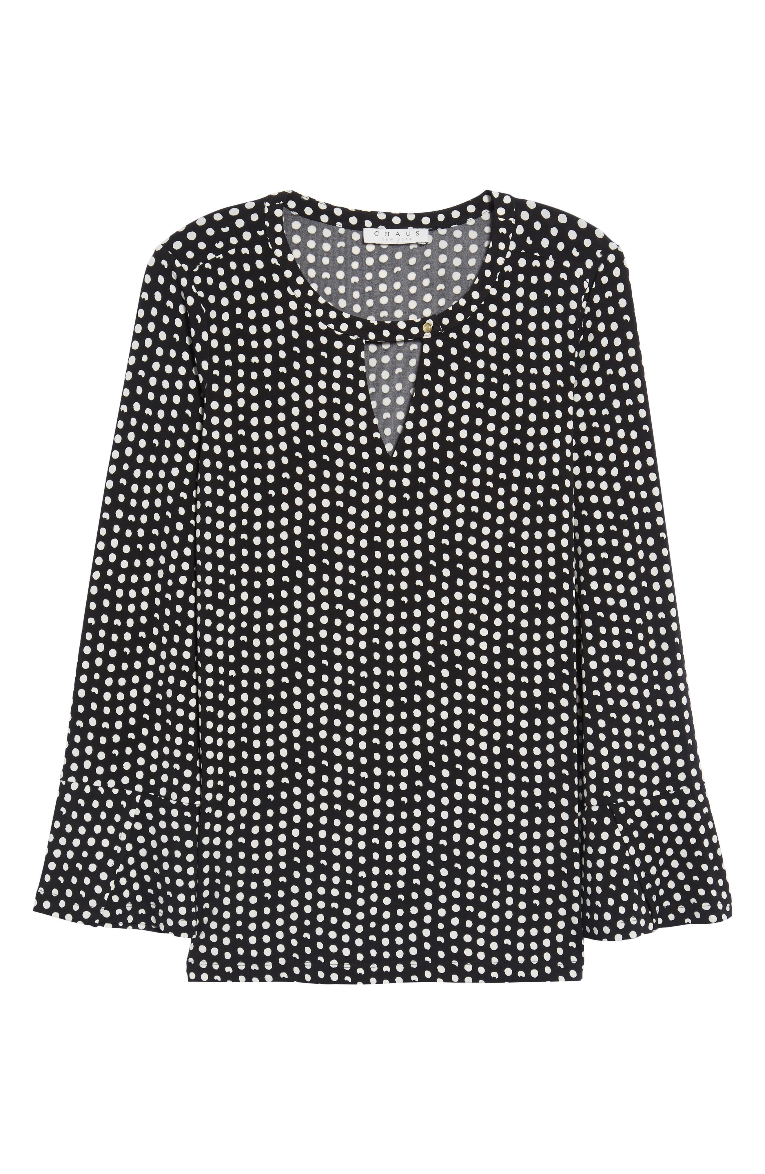 Alternate Image 6  - Chaus Polka Dot Matte Jersey Top