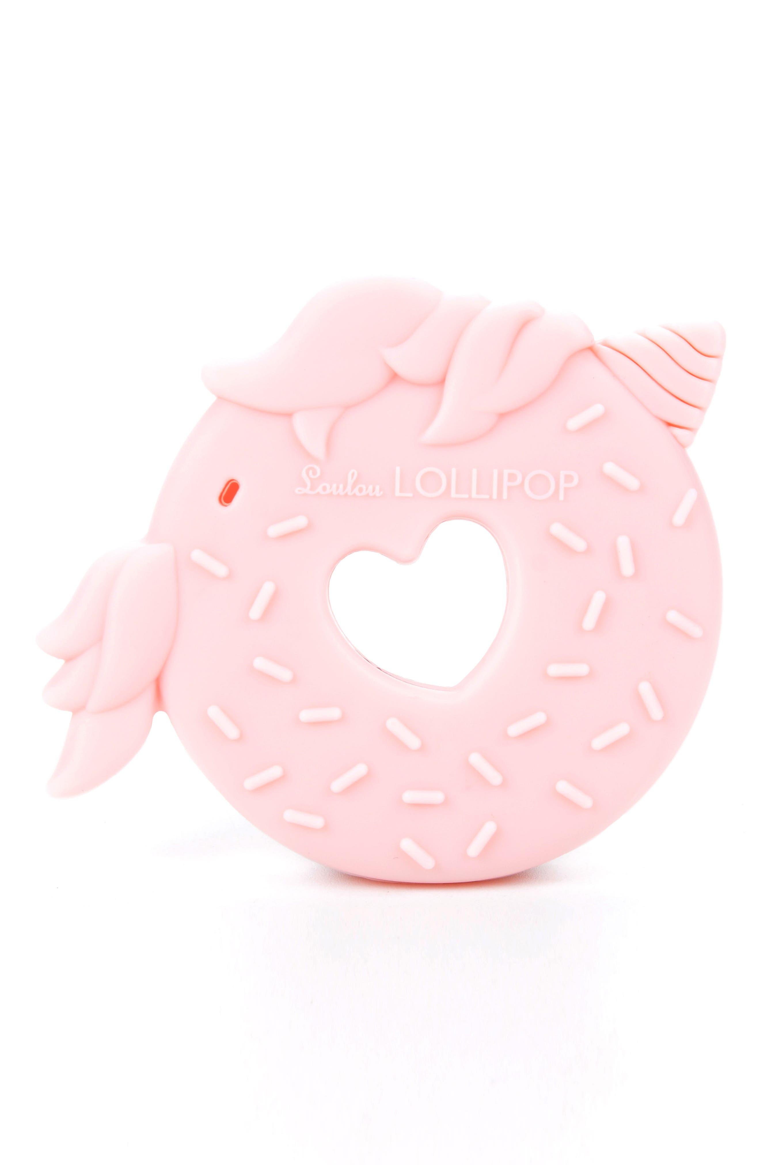 Unicorn Donut Teething Toy,                             Alternate thumbnail 2, color,                             Pink