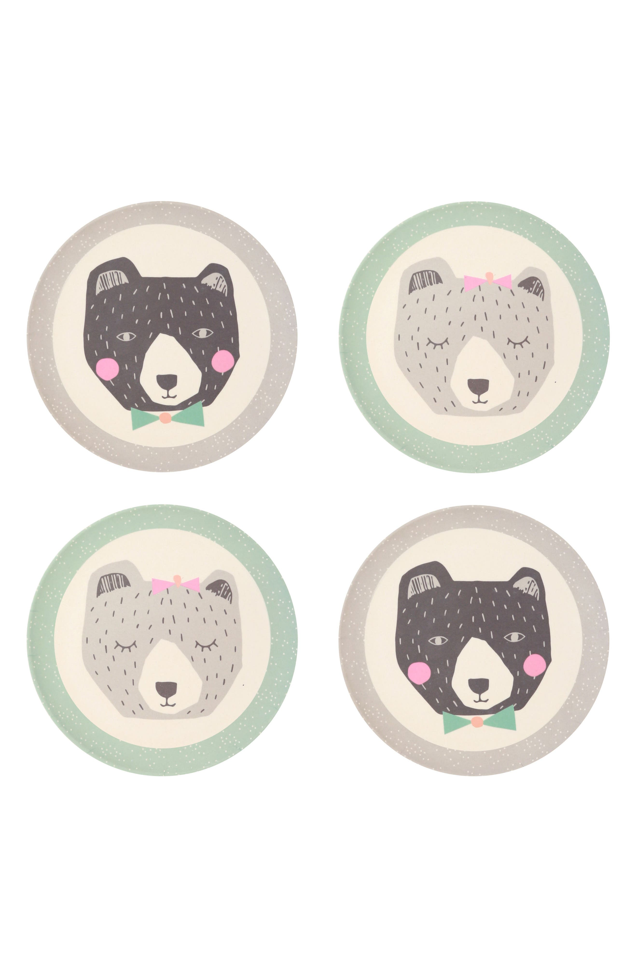 Alternate Image 1 Selected - Love Mae 4-Pack Plates