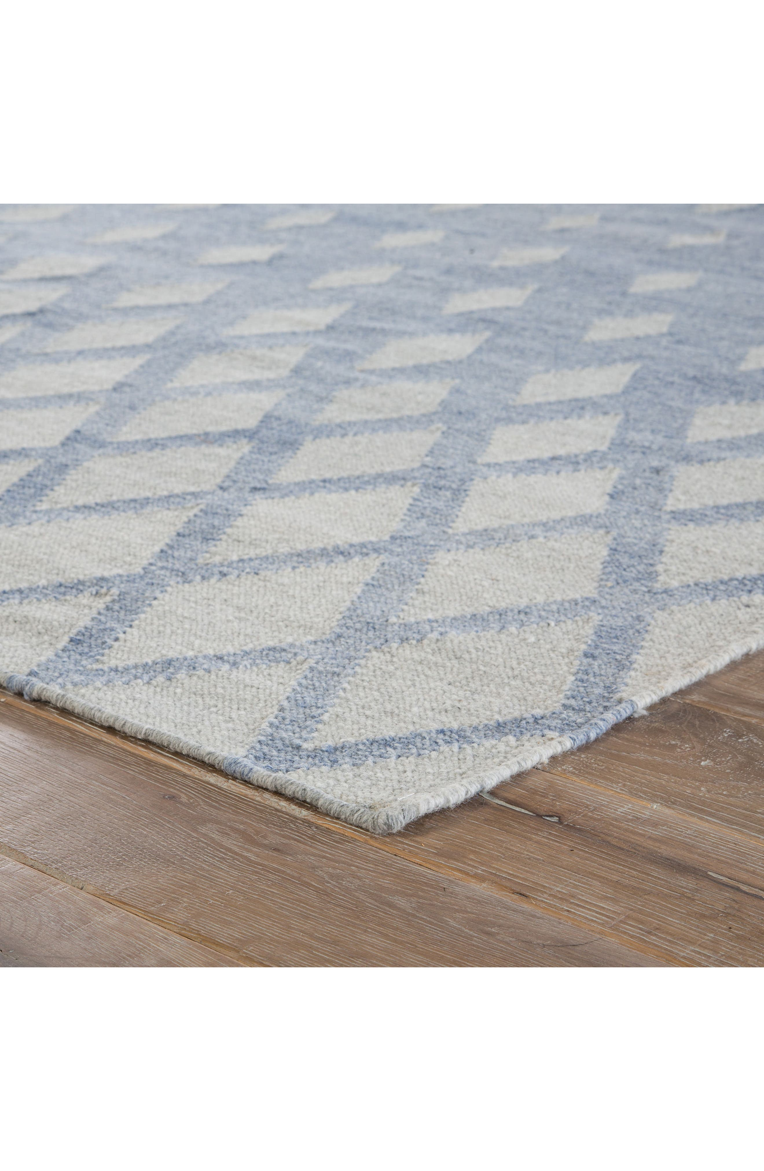 Pyramid Blocks Rug,                             Alternate thumbnail 2, color,                             Faded Denim/ Oatmeal