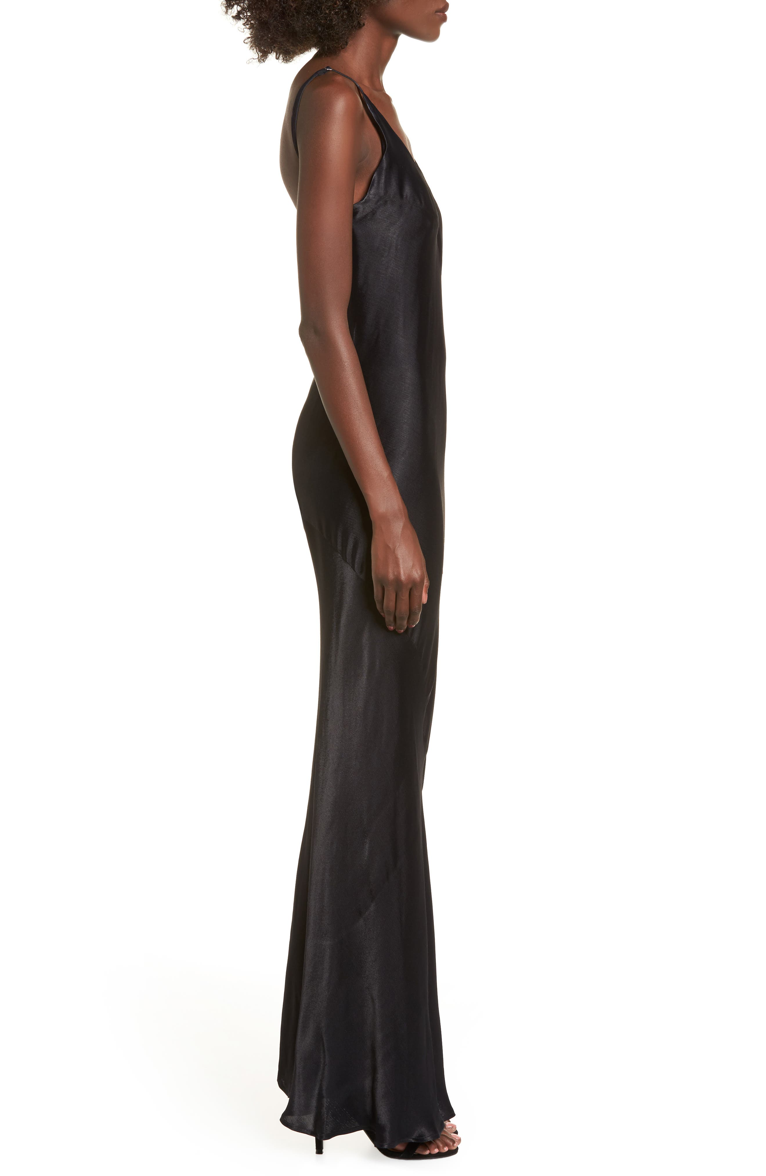 Naomi Maxi Slipdress,                             Alternate thumbnail 3, color,                             Black