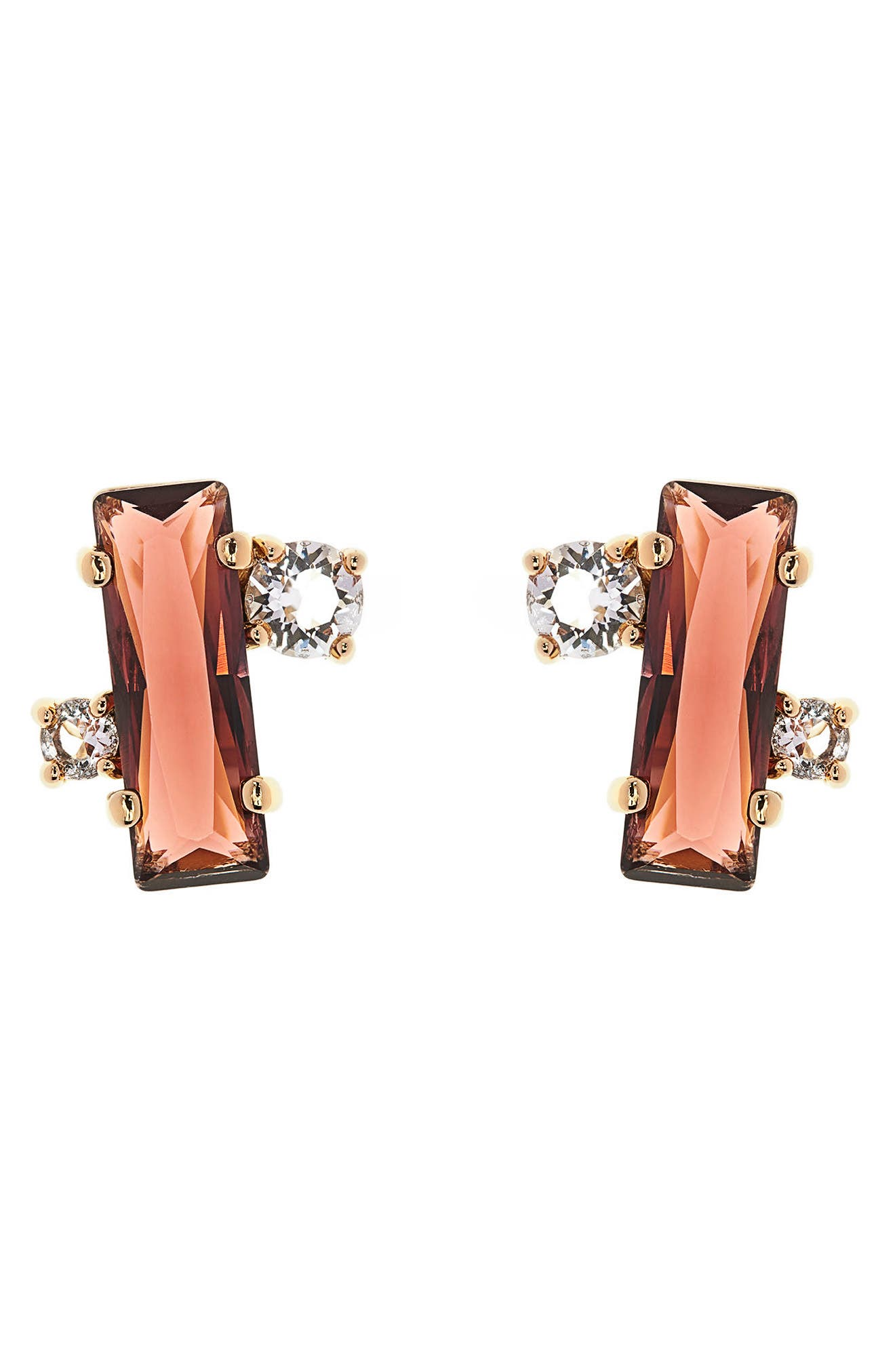Main Image - Ted Baker London Bria Baguette Cluster Earrings
