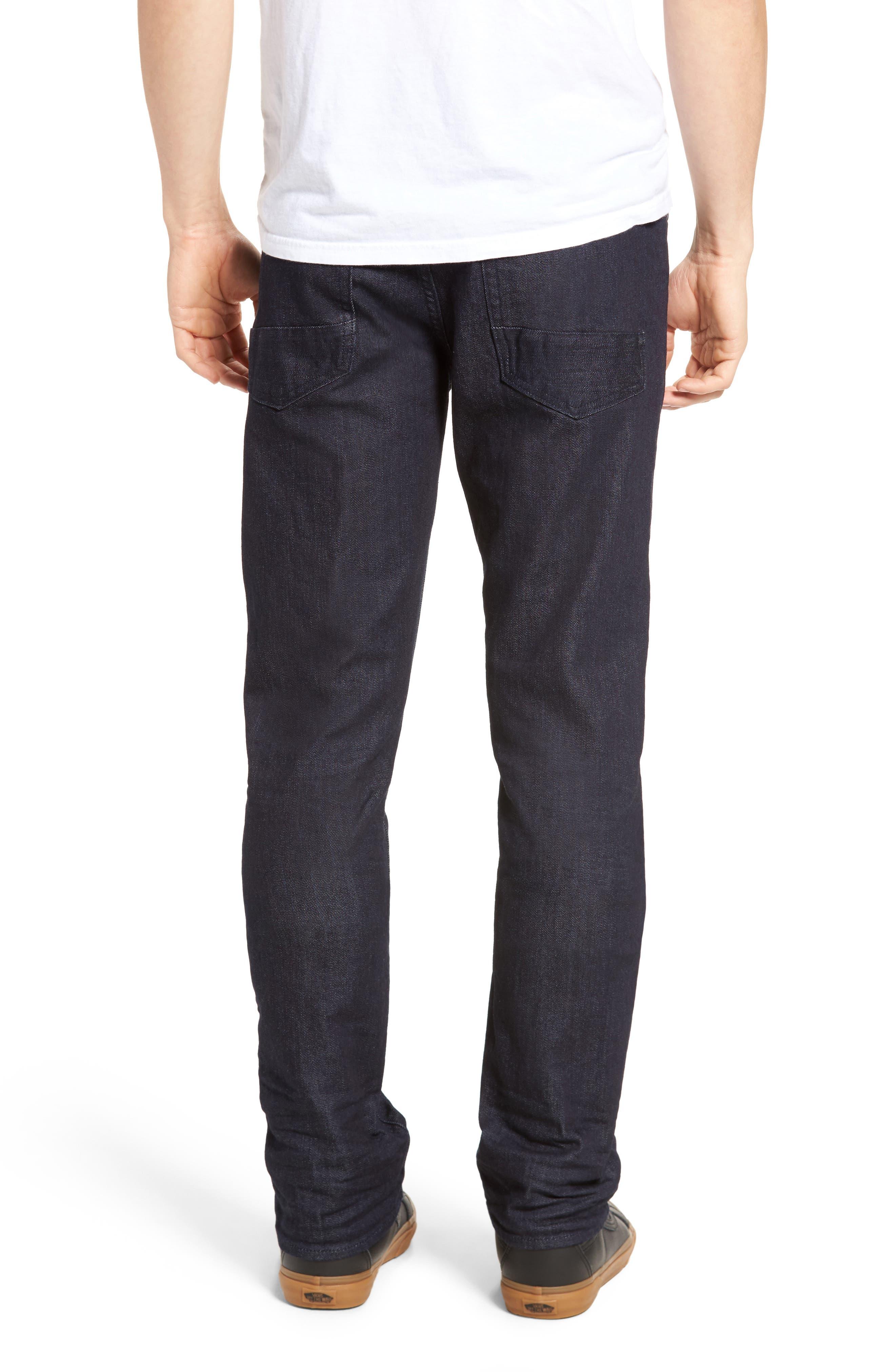 Demon Slim Straight Leg Jeans,                             Alternate thumbnail 2, color,                             Rinse