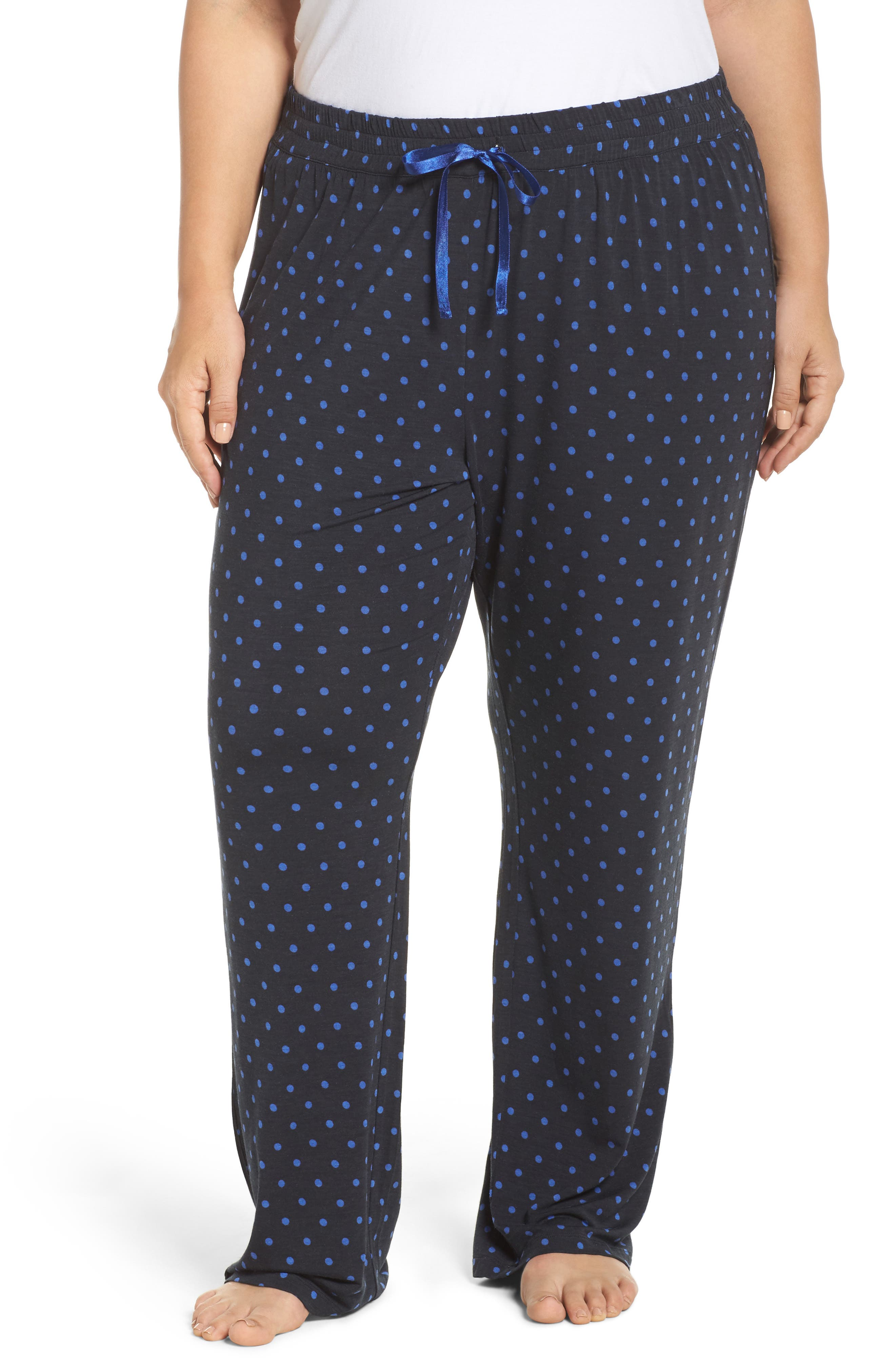 Dot Lounge Pants,                         Main,                         color, Black
