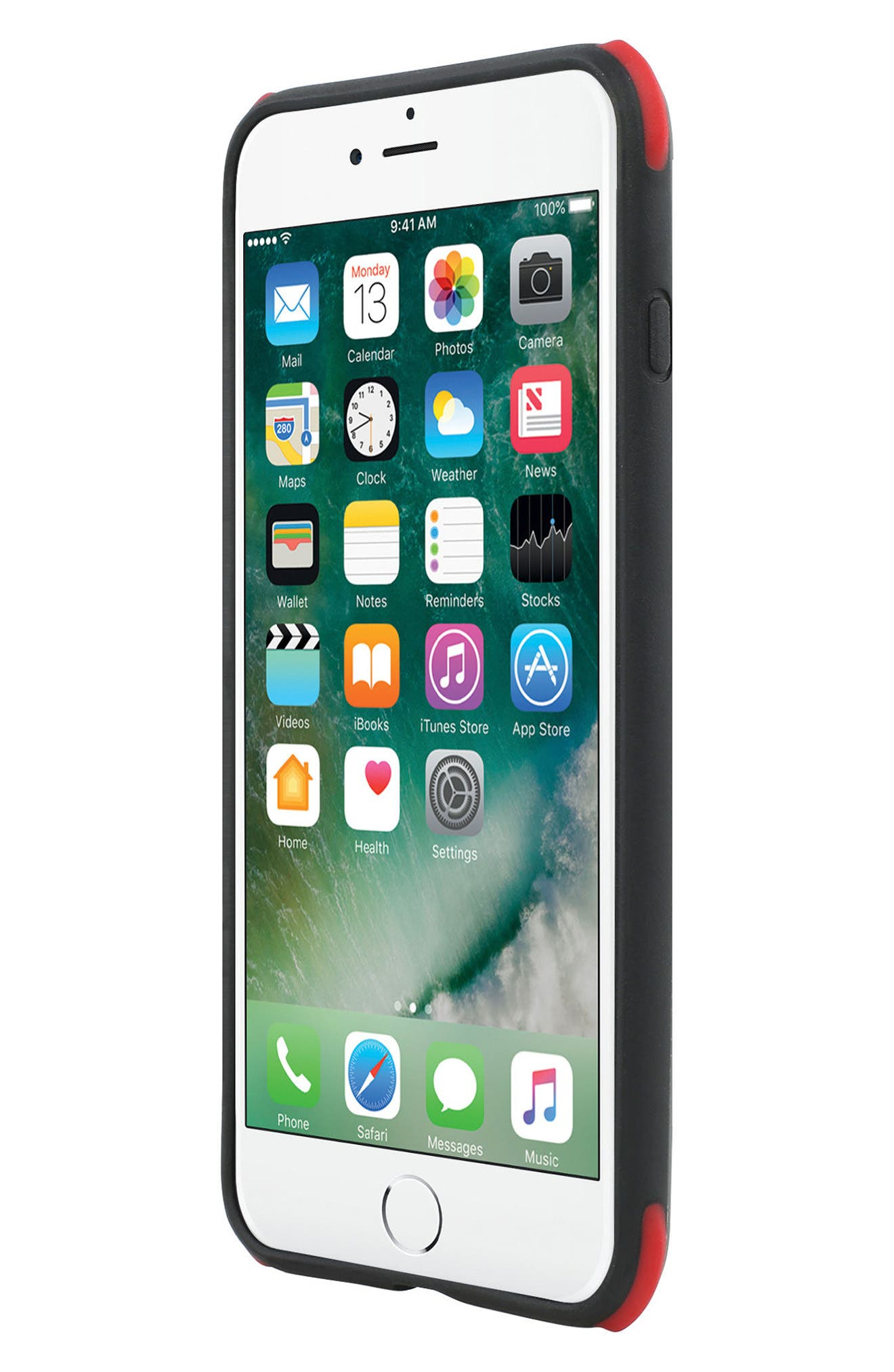 Regular Protection iPhone 8 Plus Case,                             Alternate thumbnail 4, color,                             Brushed Gunmetal