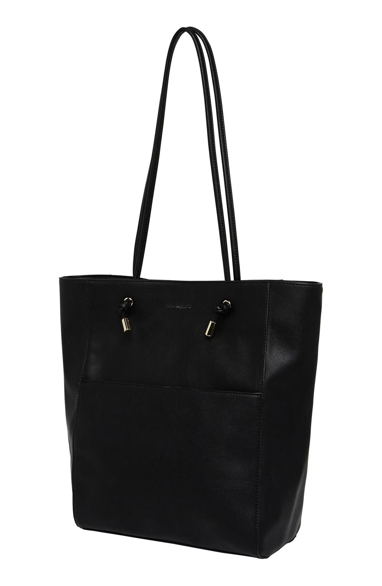 Gods & Goddesses Vegan Leather Tote,                             Alternate thumbnail 2, color,                             Black