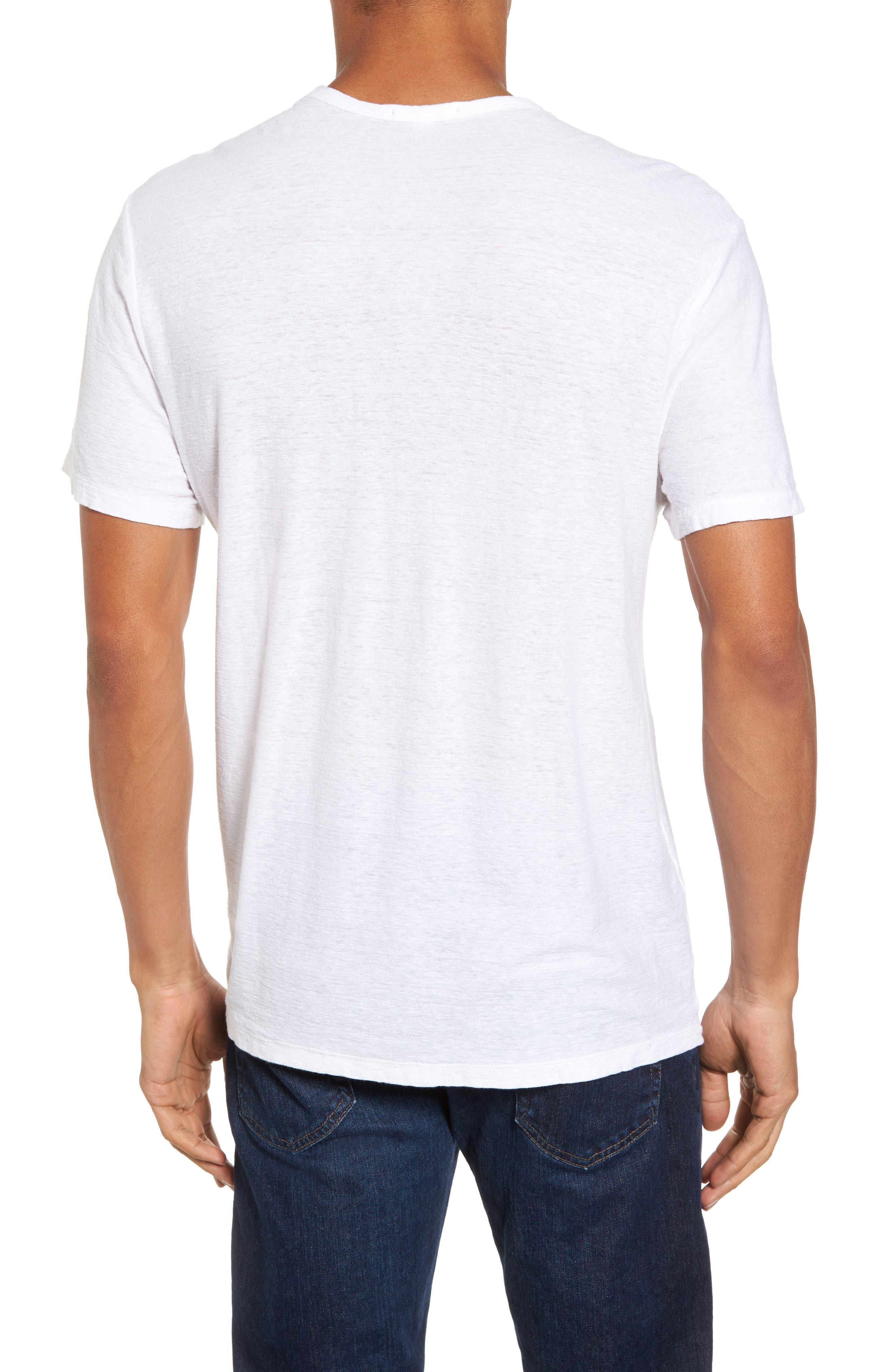 Alternate Image 2  - James Perse Cotton & Linen Pocket T-Shirt