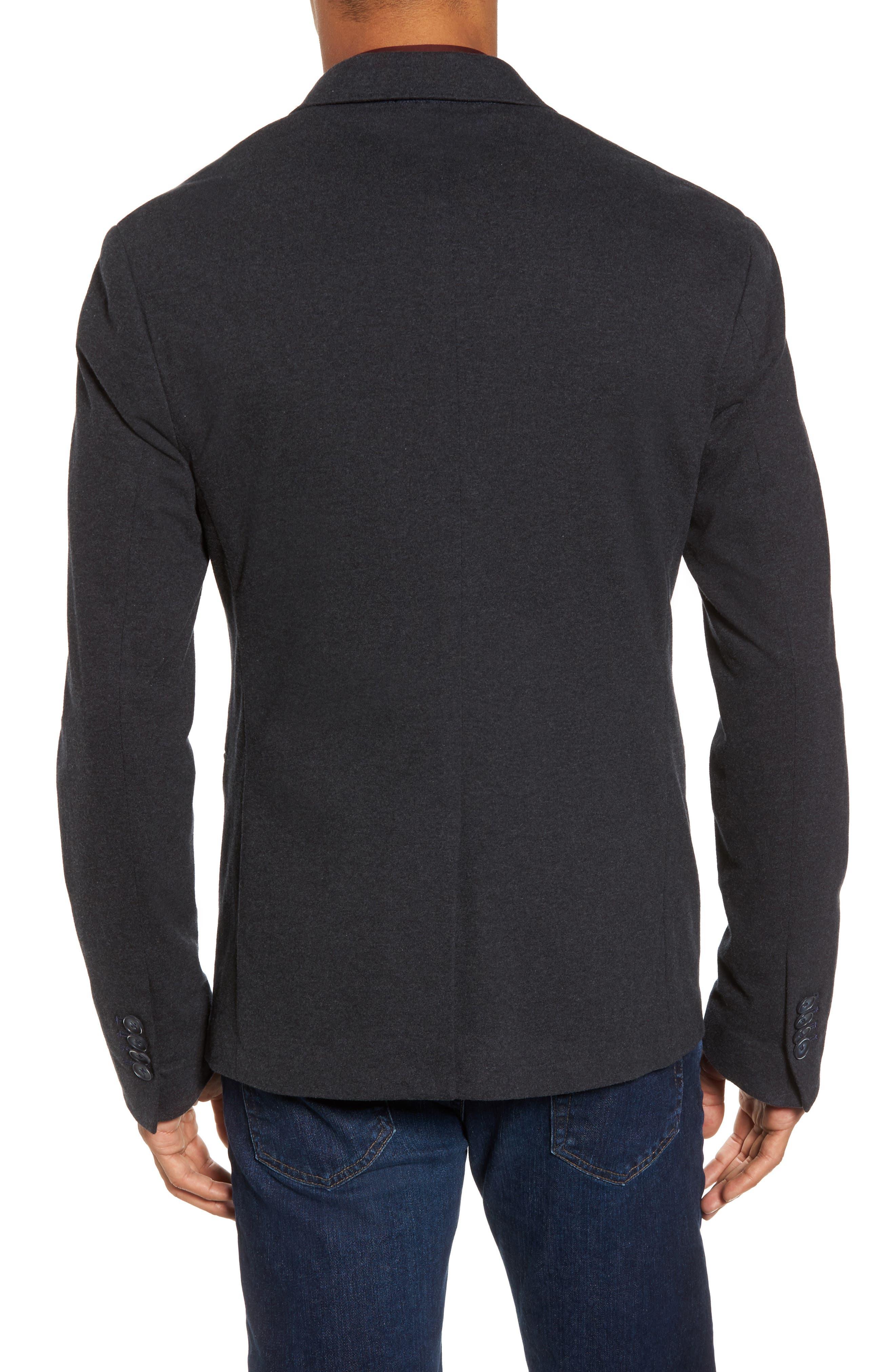 Tailored Jersey Jacket,                             Alternate thumbnail 2, color,                             Heather Dark Navy
