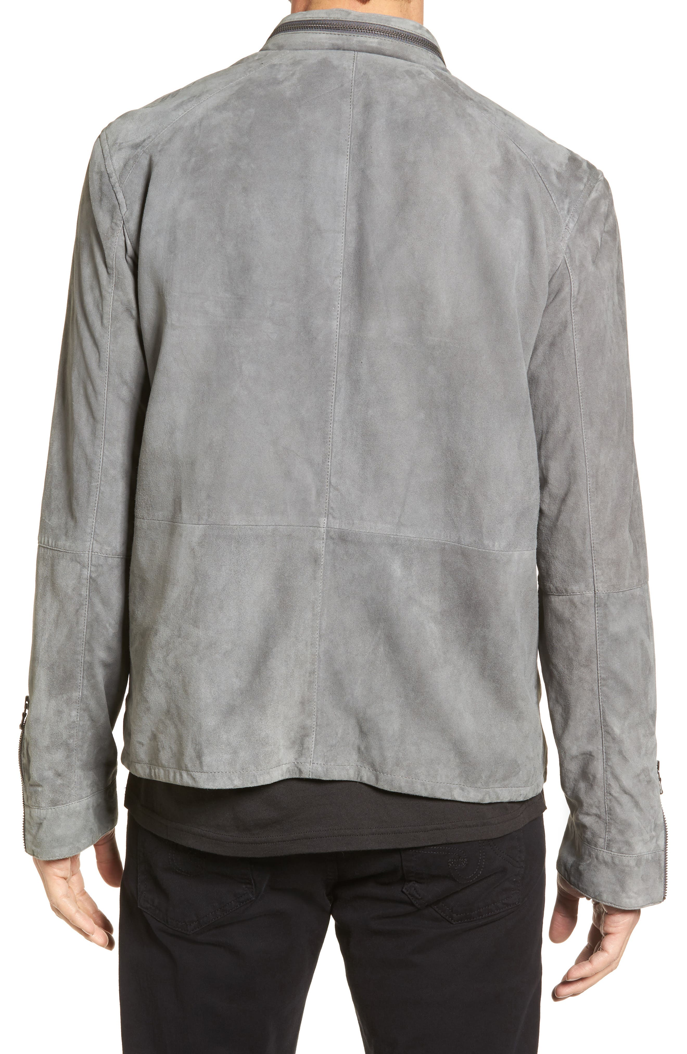 Alternate Image 2  - John Varvatos Star USA Leather Racer Jacket