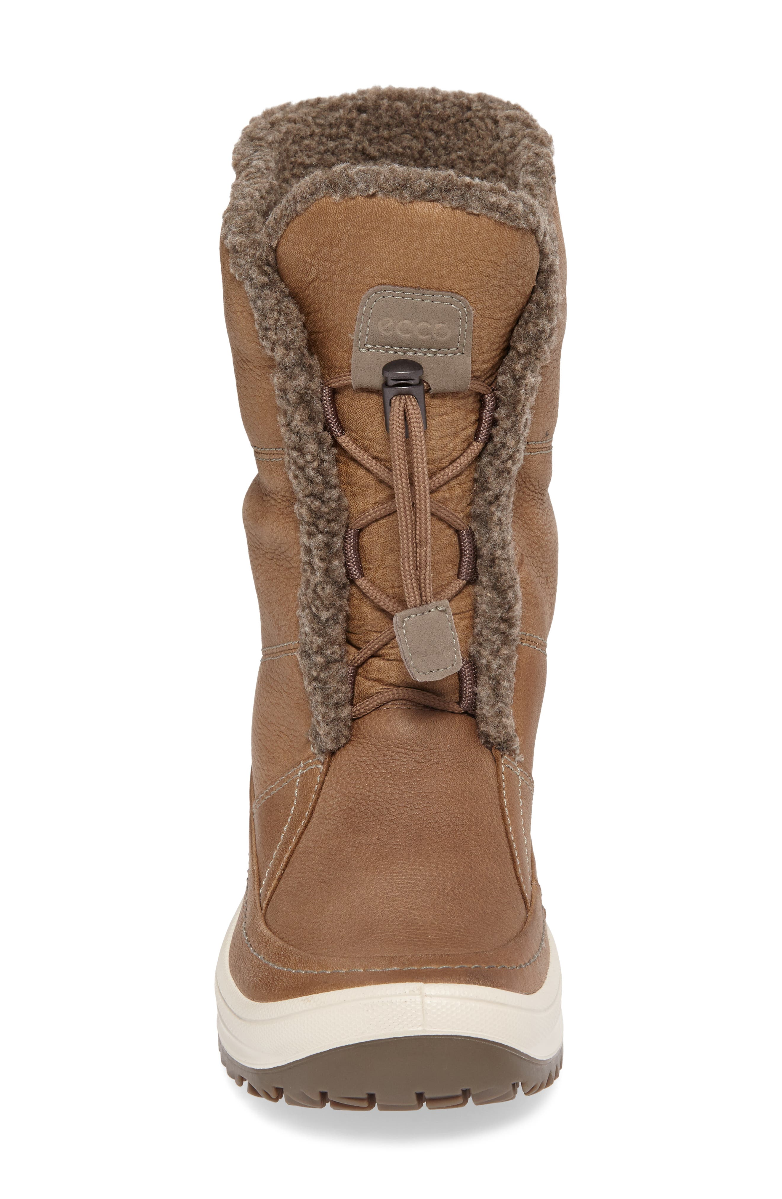 Trace Hydromax Waterproof Faux Fur Lined Boot,                             Alternate thumbnail 4, color,                             Birch Leather