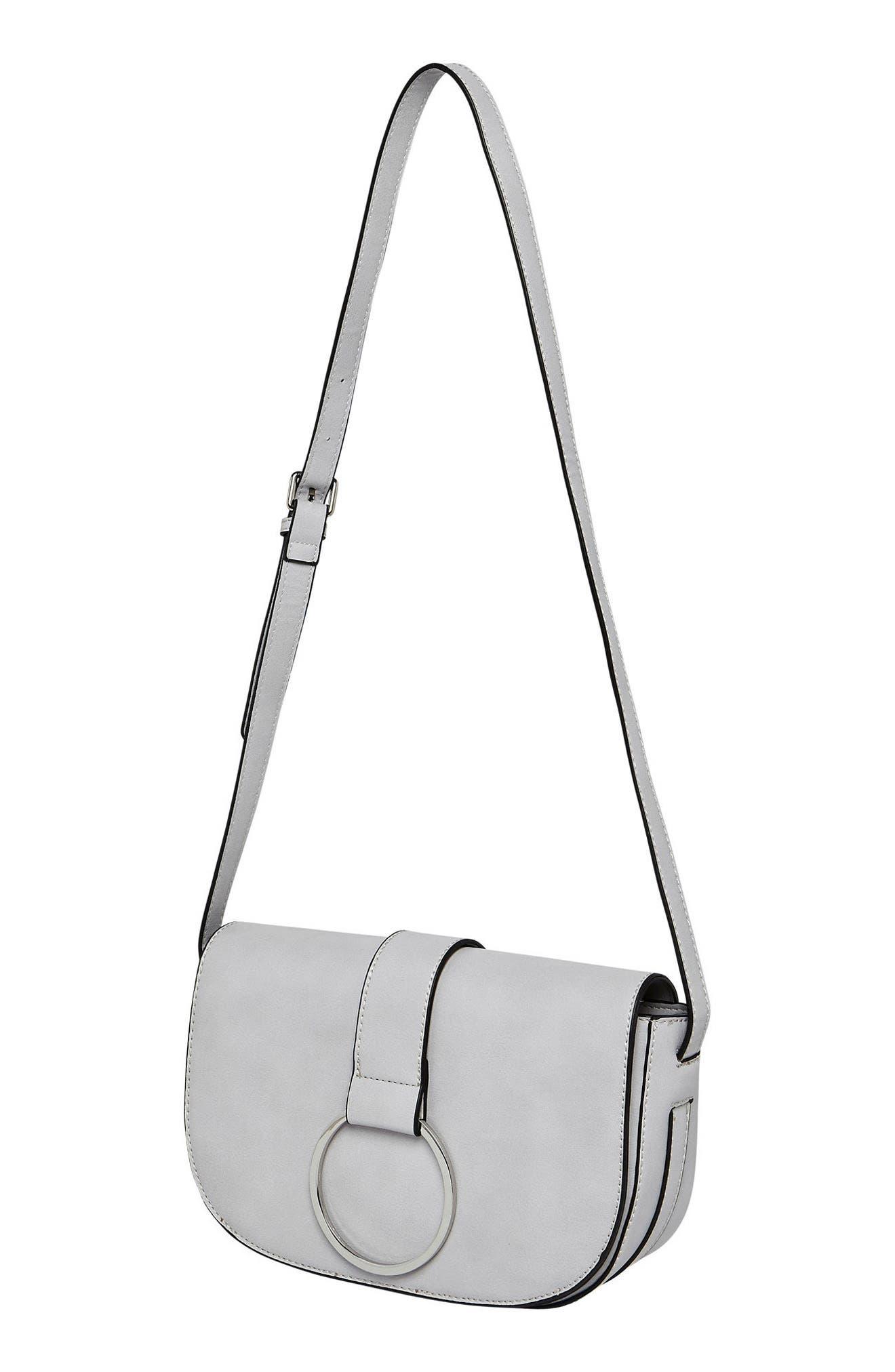Alternate Image 3  - Urban Originals Lola Vegan Leather Crossbody Saddle Bag