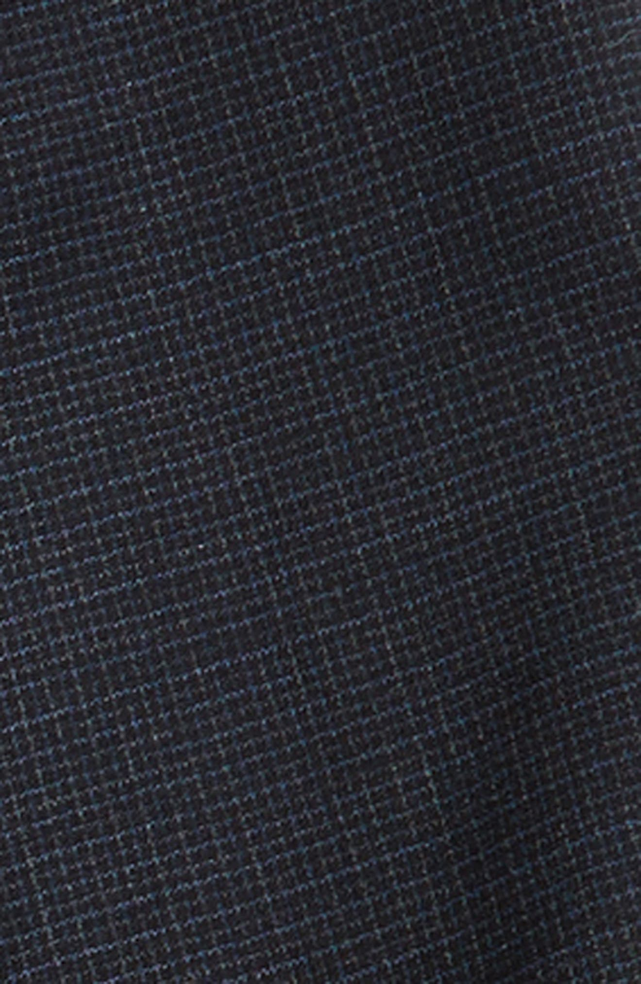 Micro Check Wool Suit,                             Alternate thumbnail 3, color,                             Grey