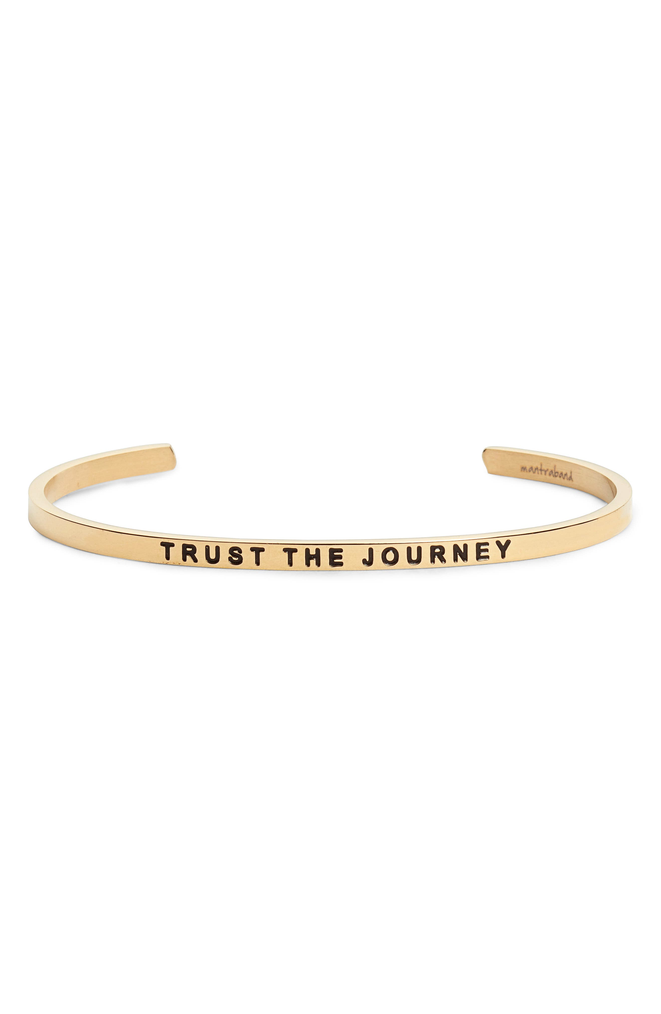 Trust the Journey Cuff,                             Main thumbnail 1, color,                             Gold