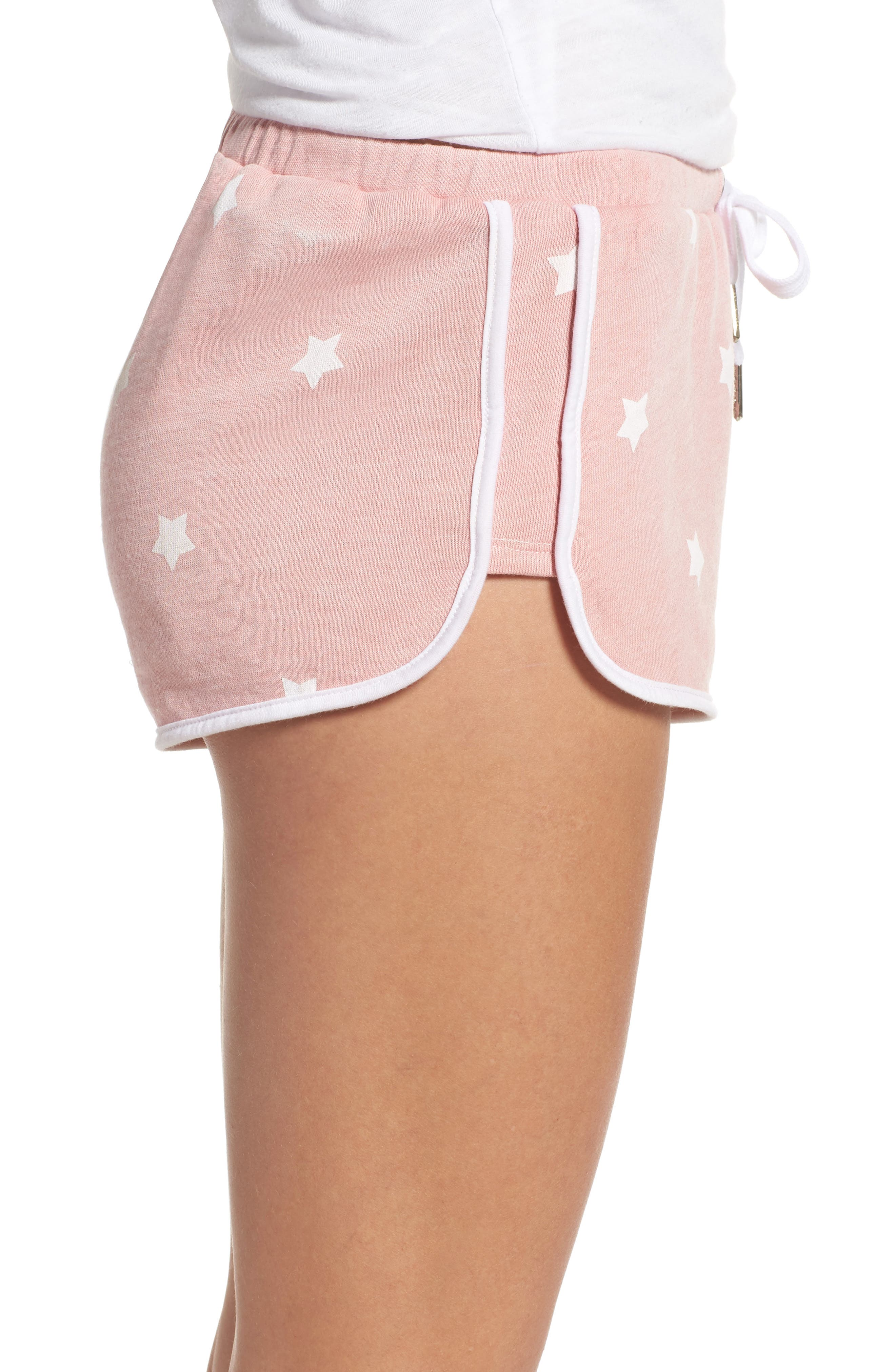 Cozy Crew Lounge Shorts,                             Alternate thumbnail 3, color,                             Champagne Star