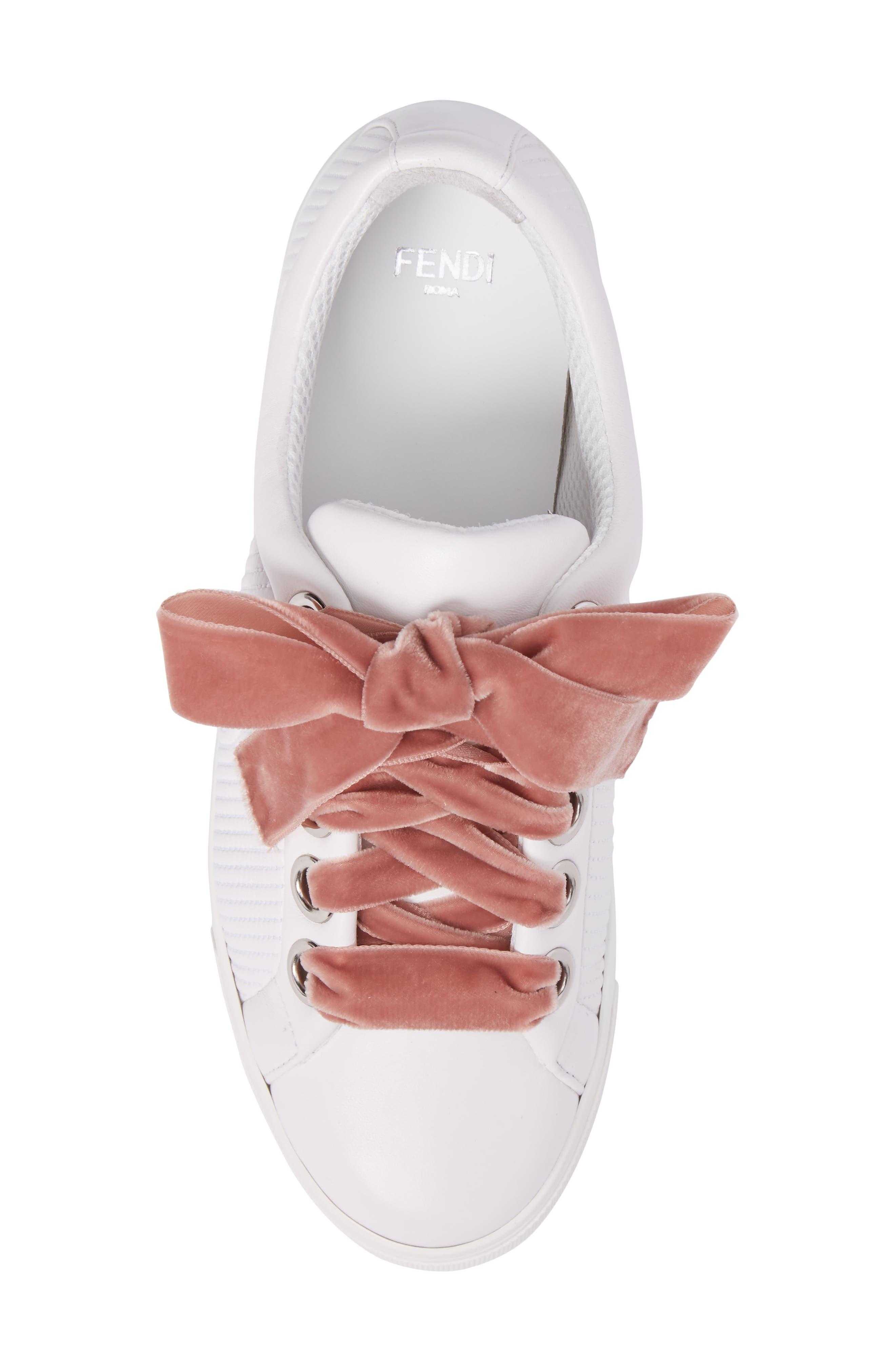 Matelassé Sneaker,                             Alternate thumbnail 5, color,                             White