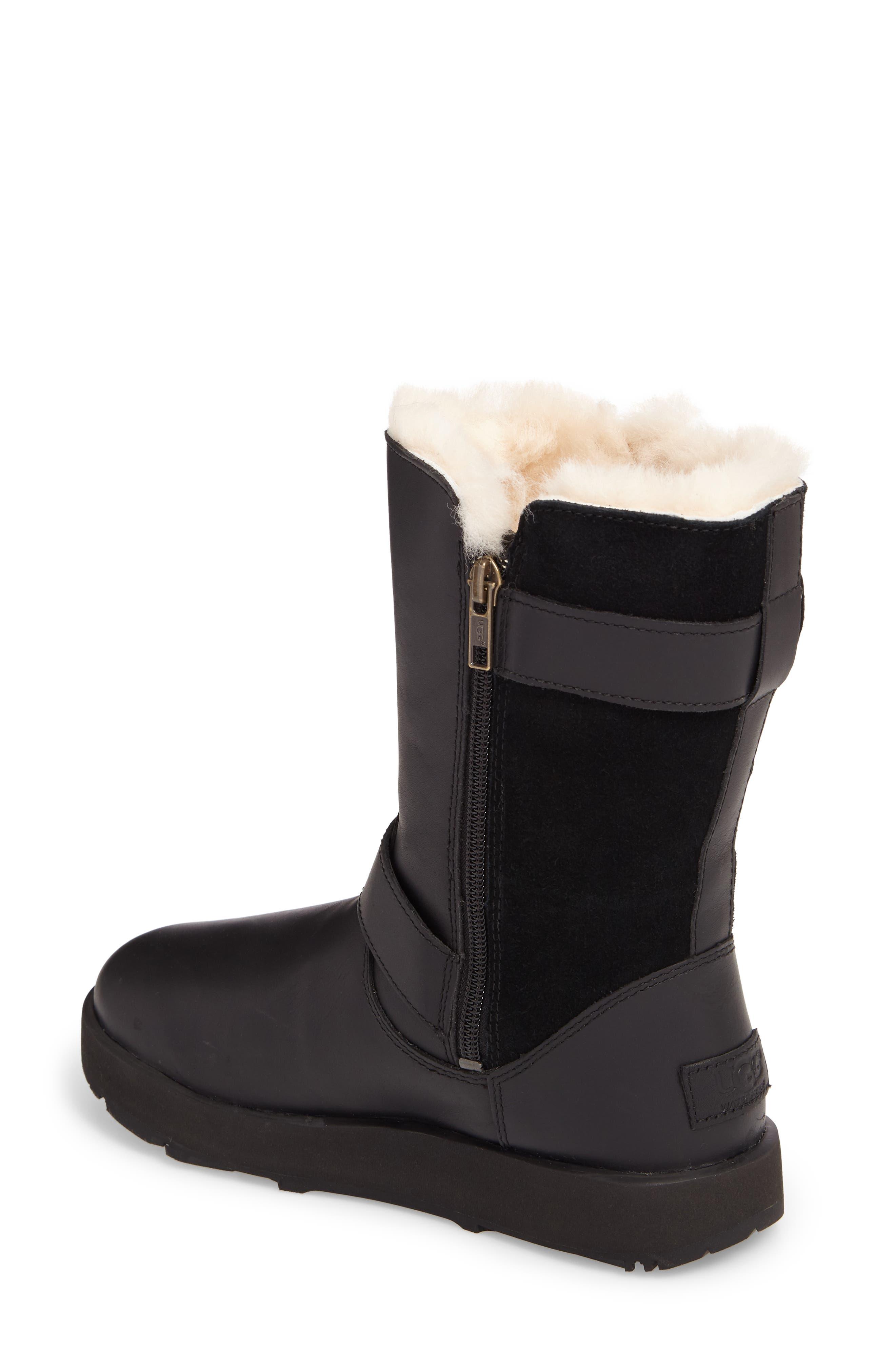 Breida Waterproof Boot,                             Alternate thumbnail 2, color,                             Black Leather