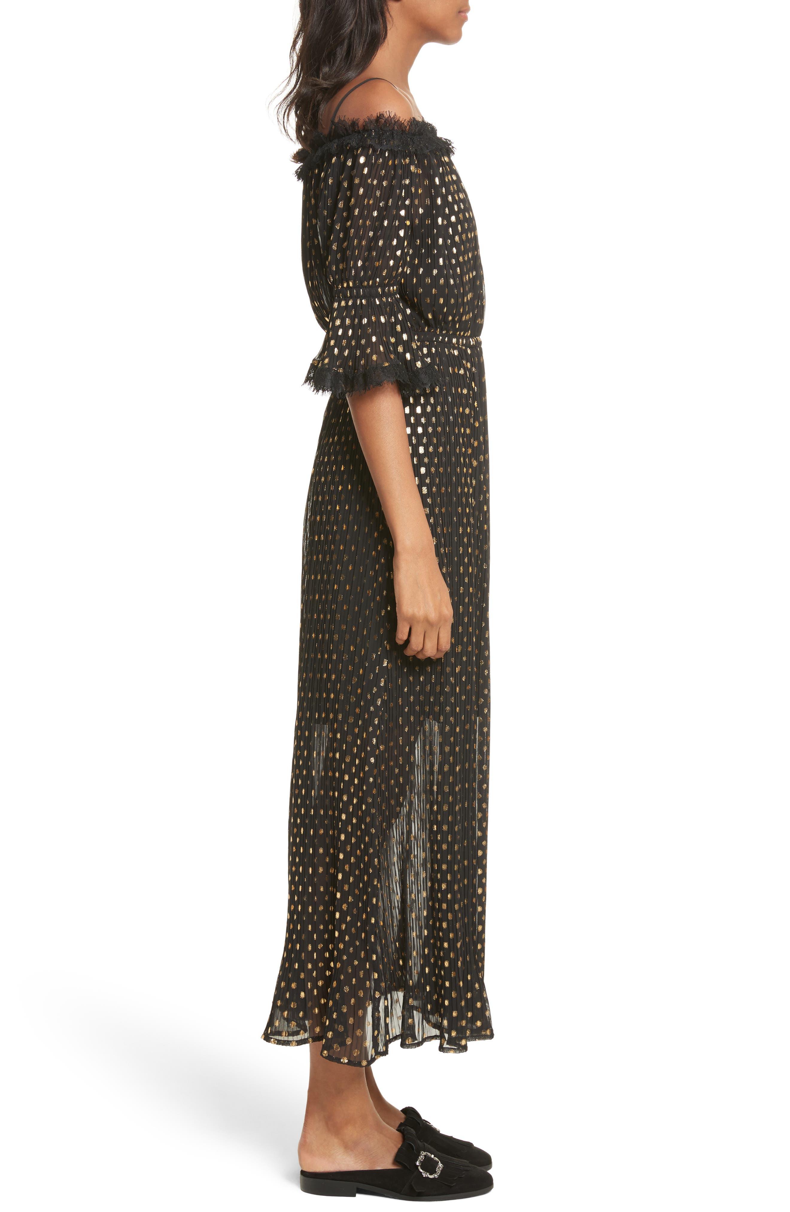 Alternate Image 3  - The Kooples Polka Dot Off the Shoulder Maxi Dress