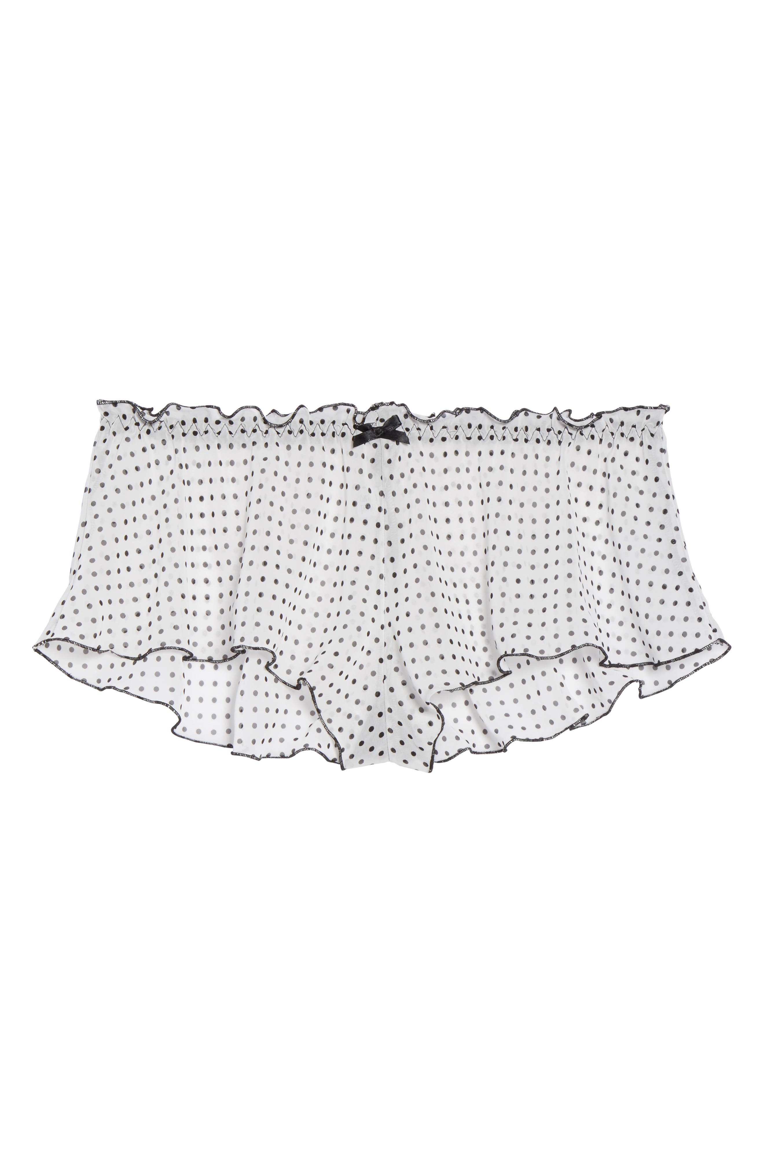 Alternate Image 4  - Hanky Panky Spot On Chiffon Tap Shorts