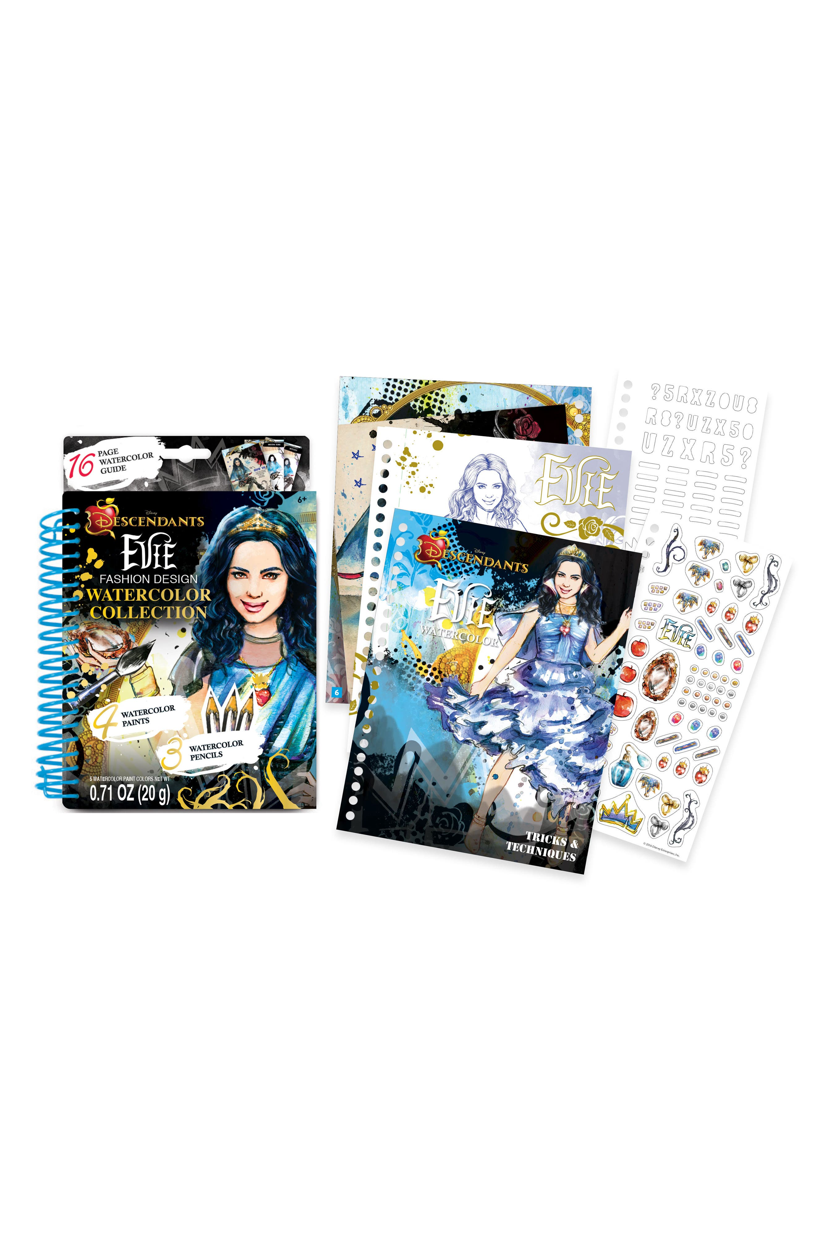 "Make It Real Disney ""Descendants"" Evie Watercolor Design Kit"