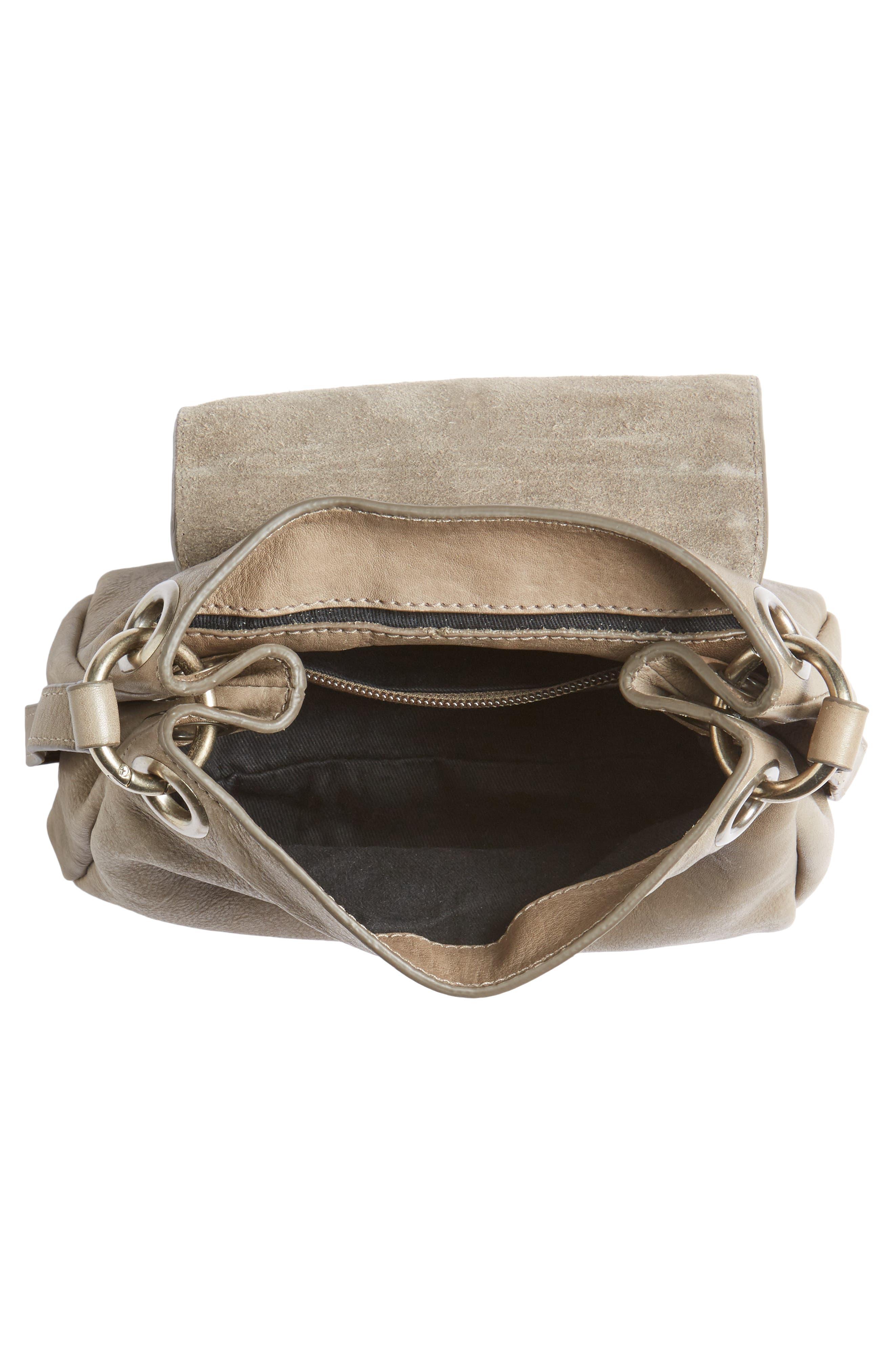 Céline Dion Cadence Crossbody Bag,                             Alternate thumbnail 4, color,                             Grey