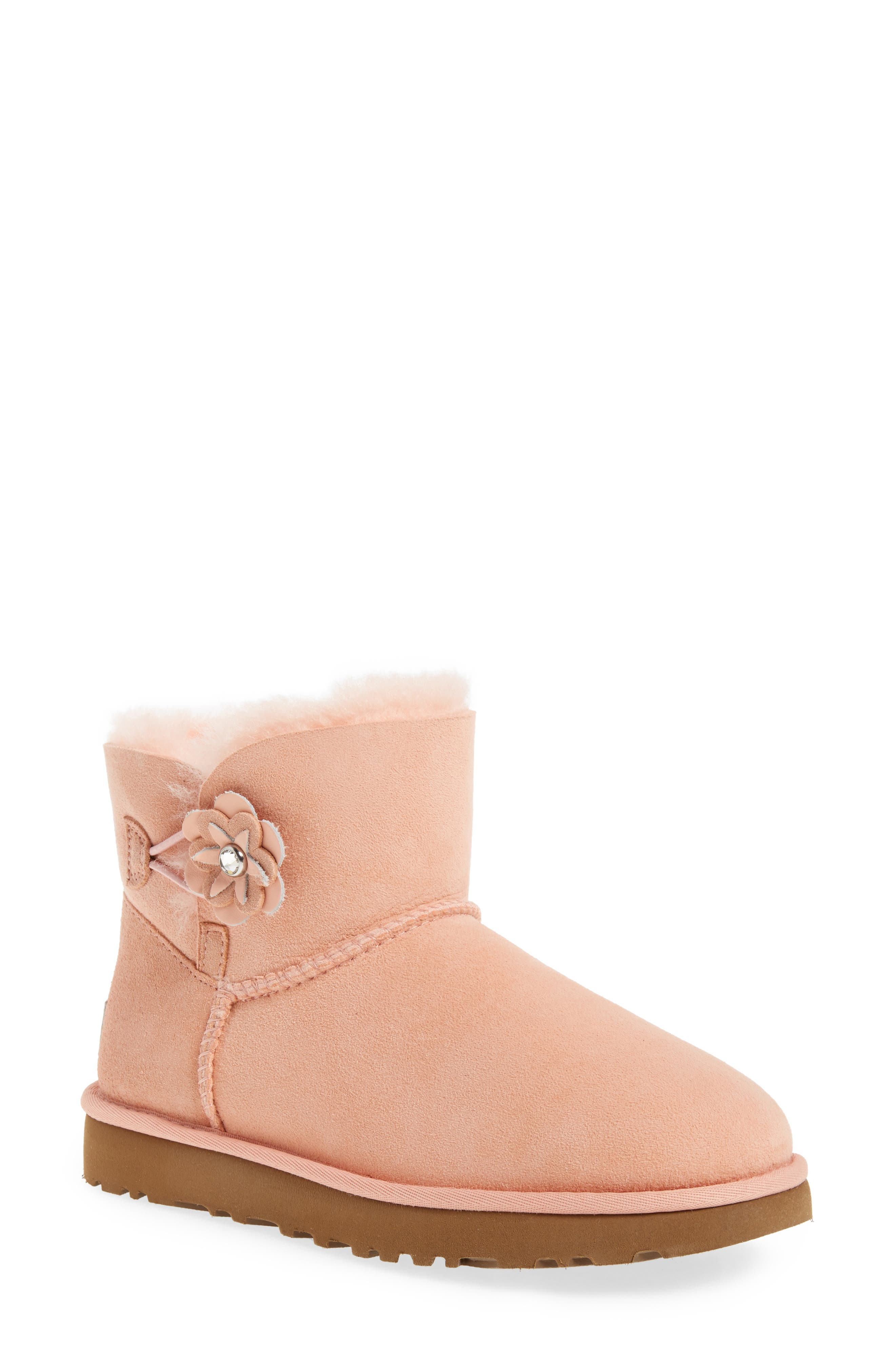UGG® Bailey Petal Genuine Shearling Lined Mini Boot (Women)