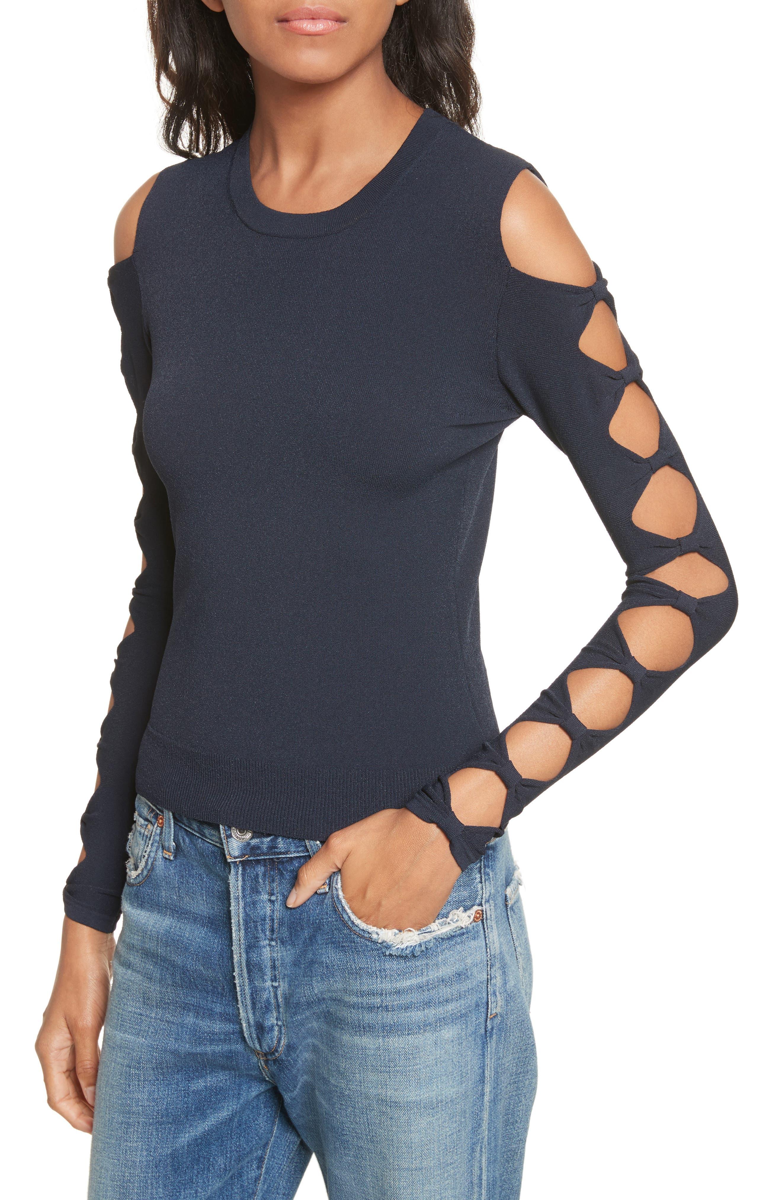Alternate Image 4  - autumn cashmere Open Bow Sleeve Sweater