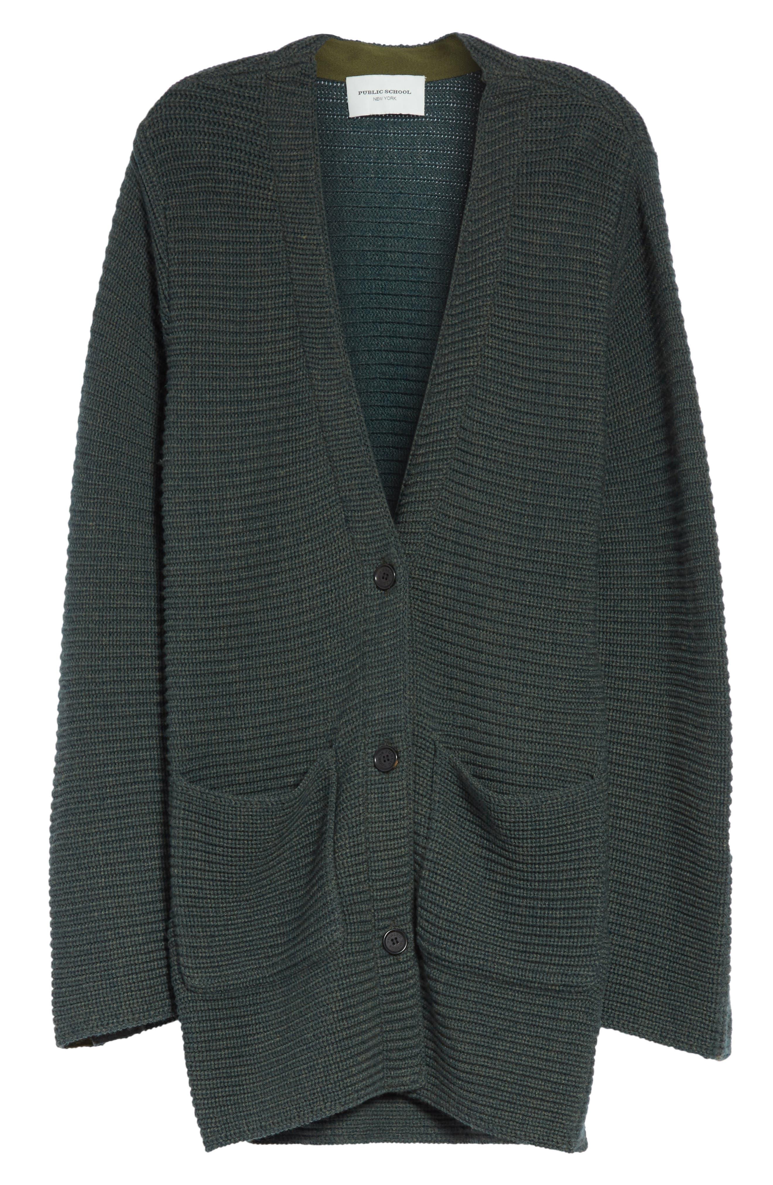 Fleta Merino Wool Blend Cardigan,                             Alternate thumbnail 7, color,                             Olive