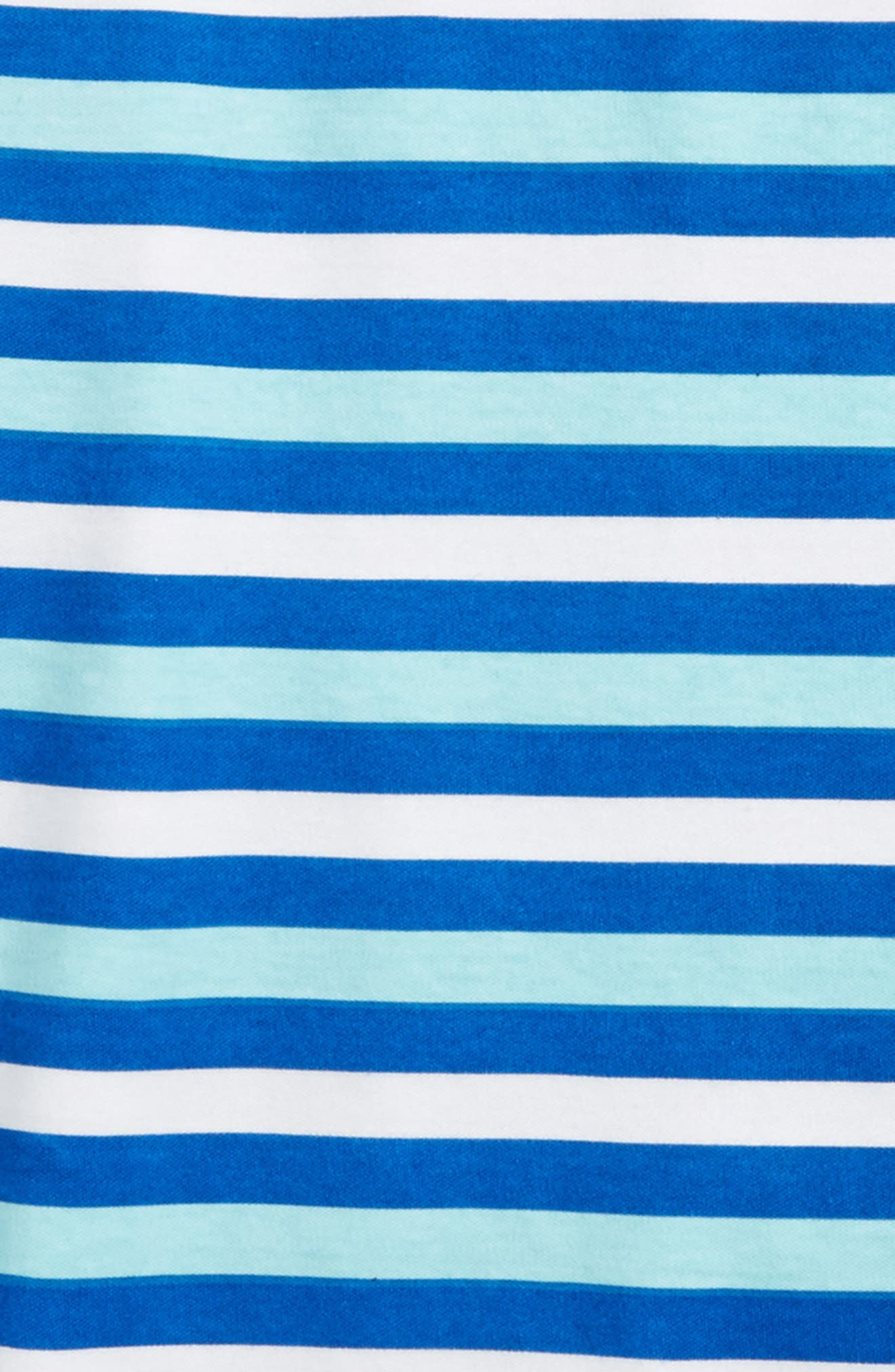 Stripe Organic Cotton Fitted Two-Piece Pajamas,                             Alternate thumbnail 2, color,                             Blue