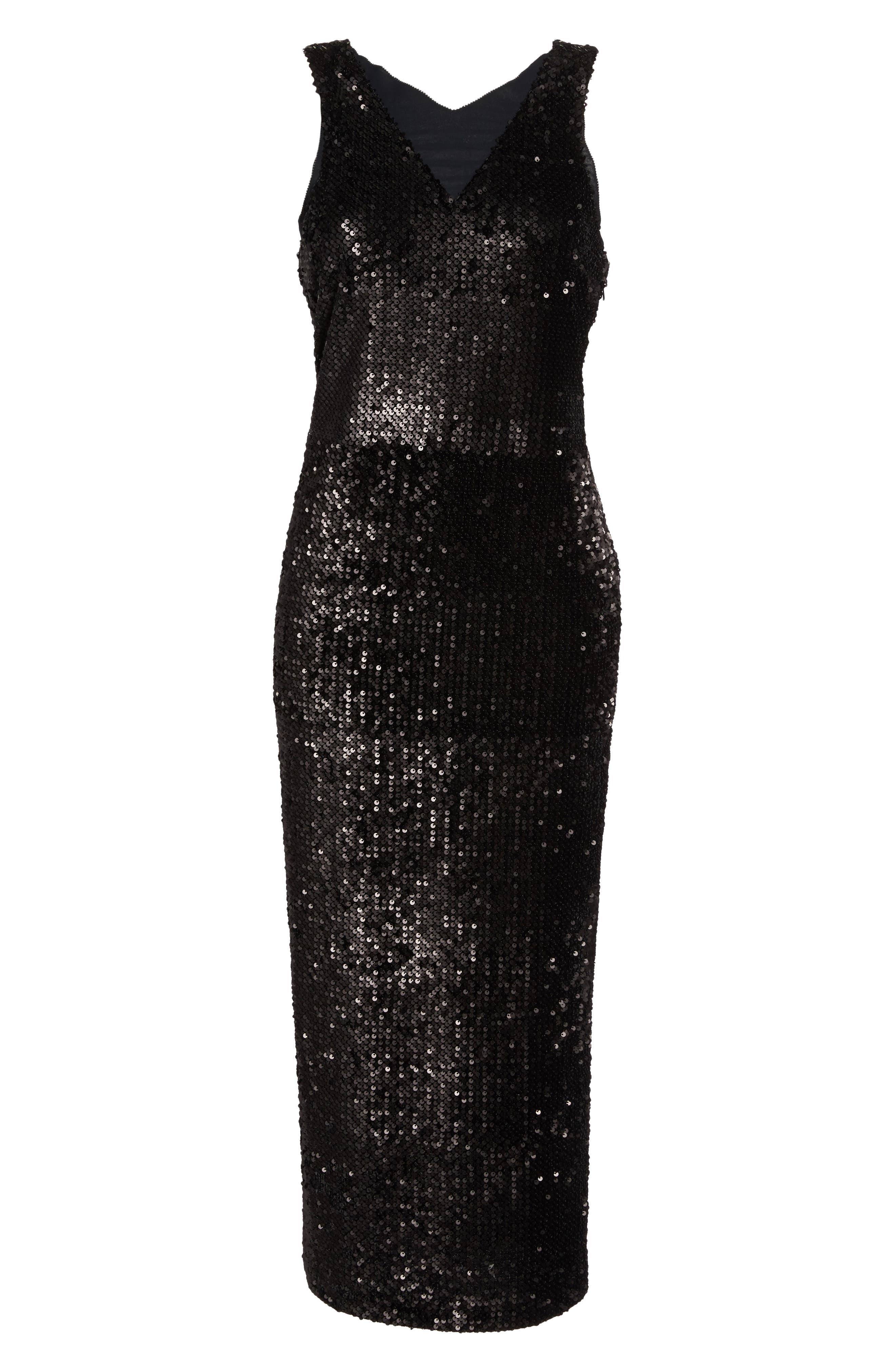 Alternate Image 6  - NIC+ZOE Night Shimmer Sequin Midi Dress