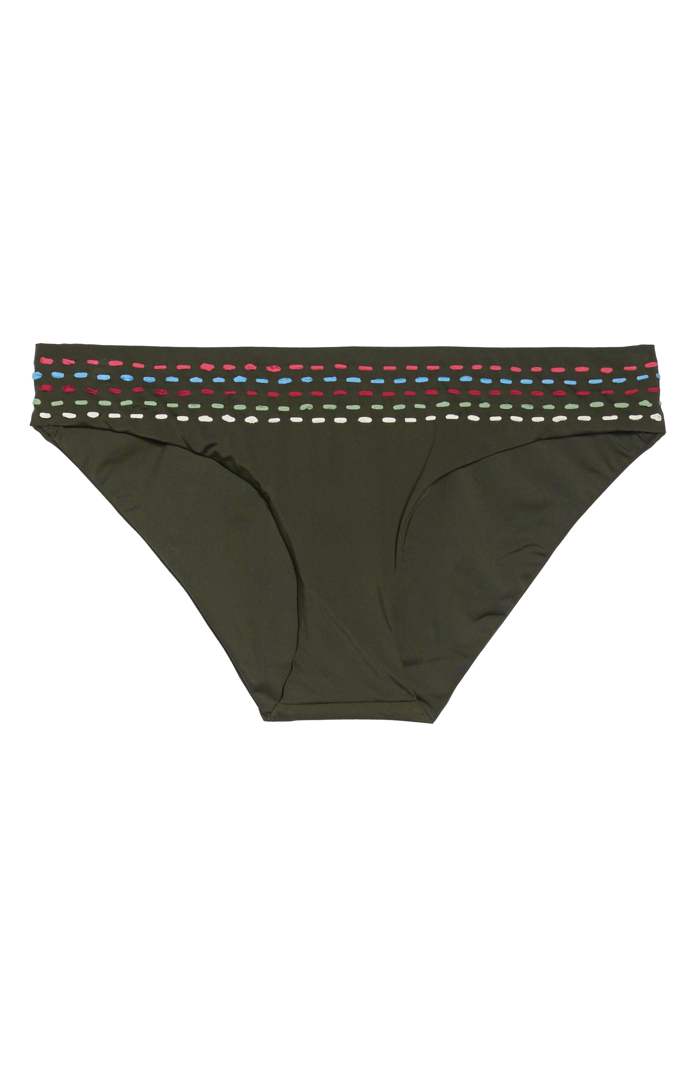 Quest American Bikini Bottoms,                             Alternate thumbnail 6, color,                             Bay Leaf